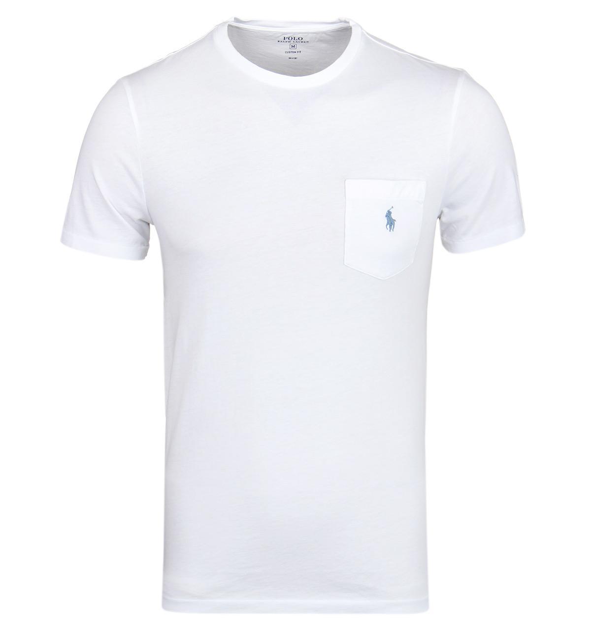 Polo Ralph Lauren. Men\u0027s Basic Pocket White Short Sleeve T-shirt