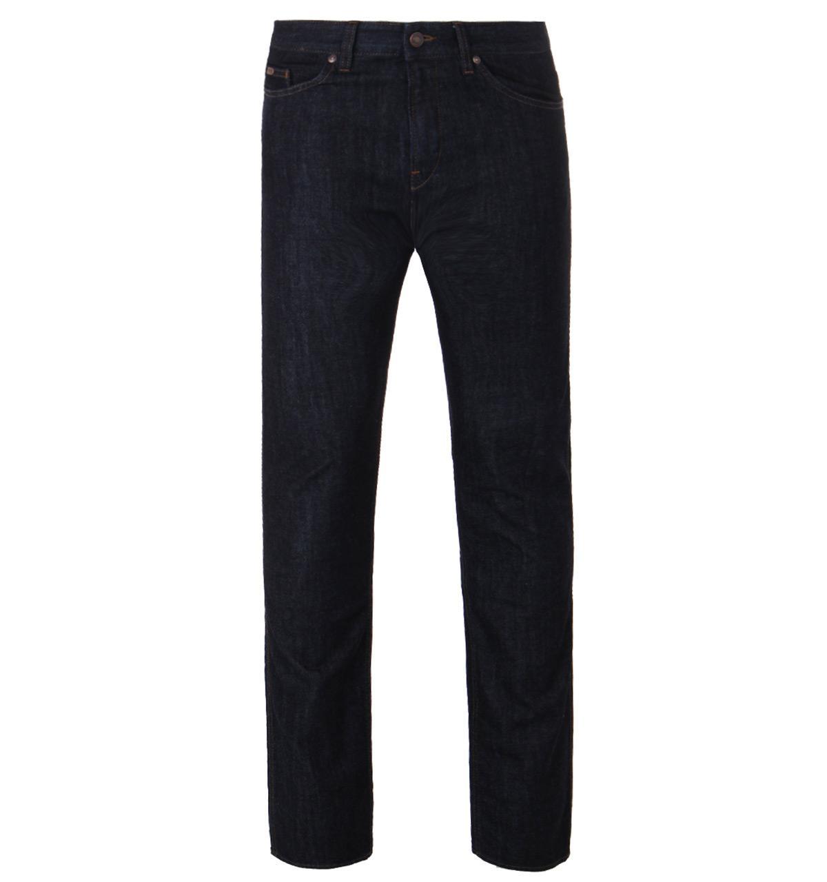 BOSS Green. Men's Blue C-delaware 1 Dark Indigo Medium Wash Slim Fit Jeans
