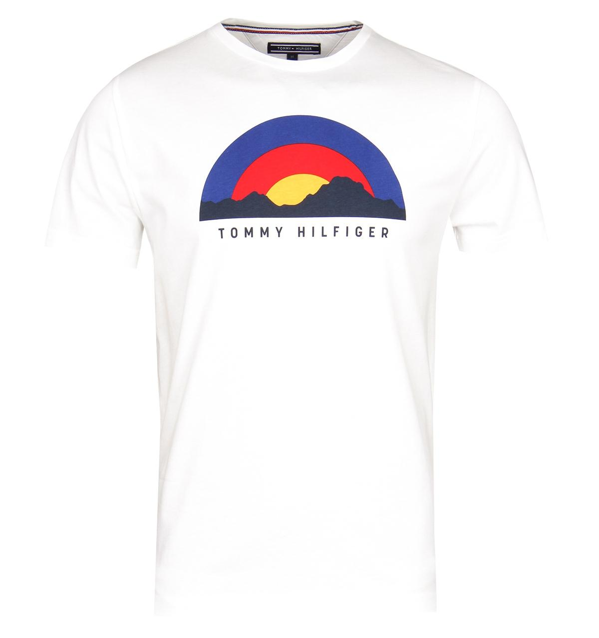 ef5b476c164bb Lyst - Tommy Hilfiger Sunrise Off White Graphic Tee in White for Men