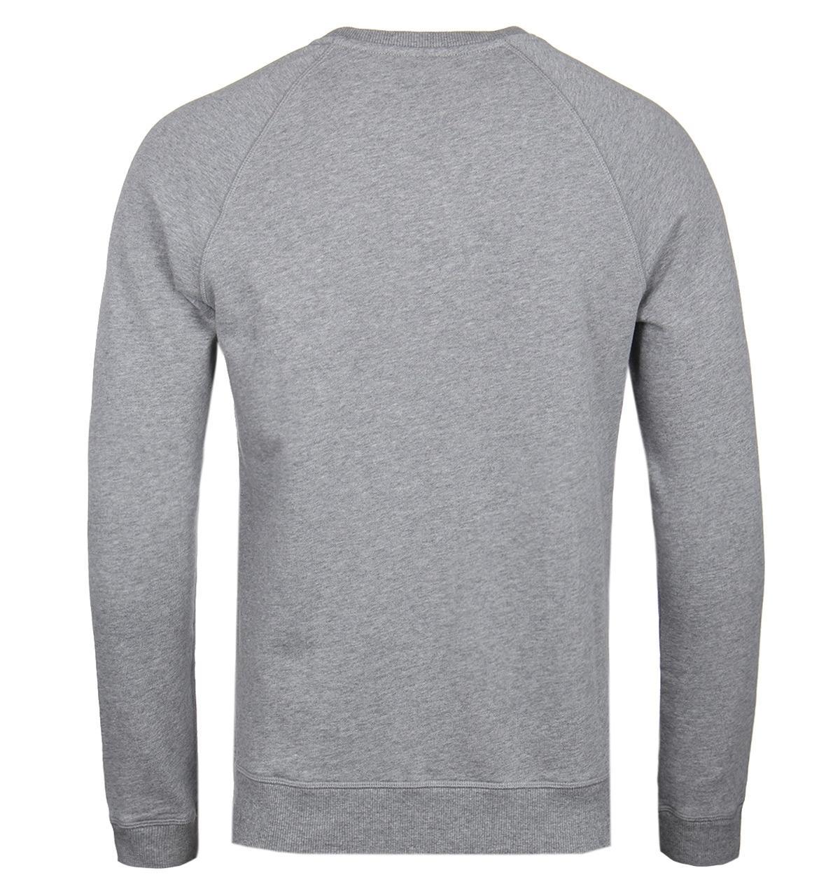 ee0cae844 BOSS Orange - Gray Boss Wyan Grey Marl Sweatshirt for Men - Lyst. View  fullscreen