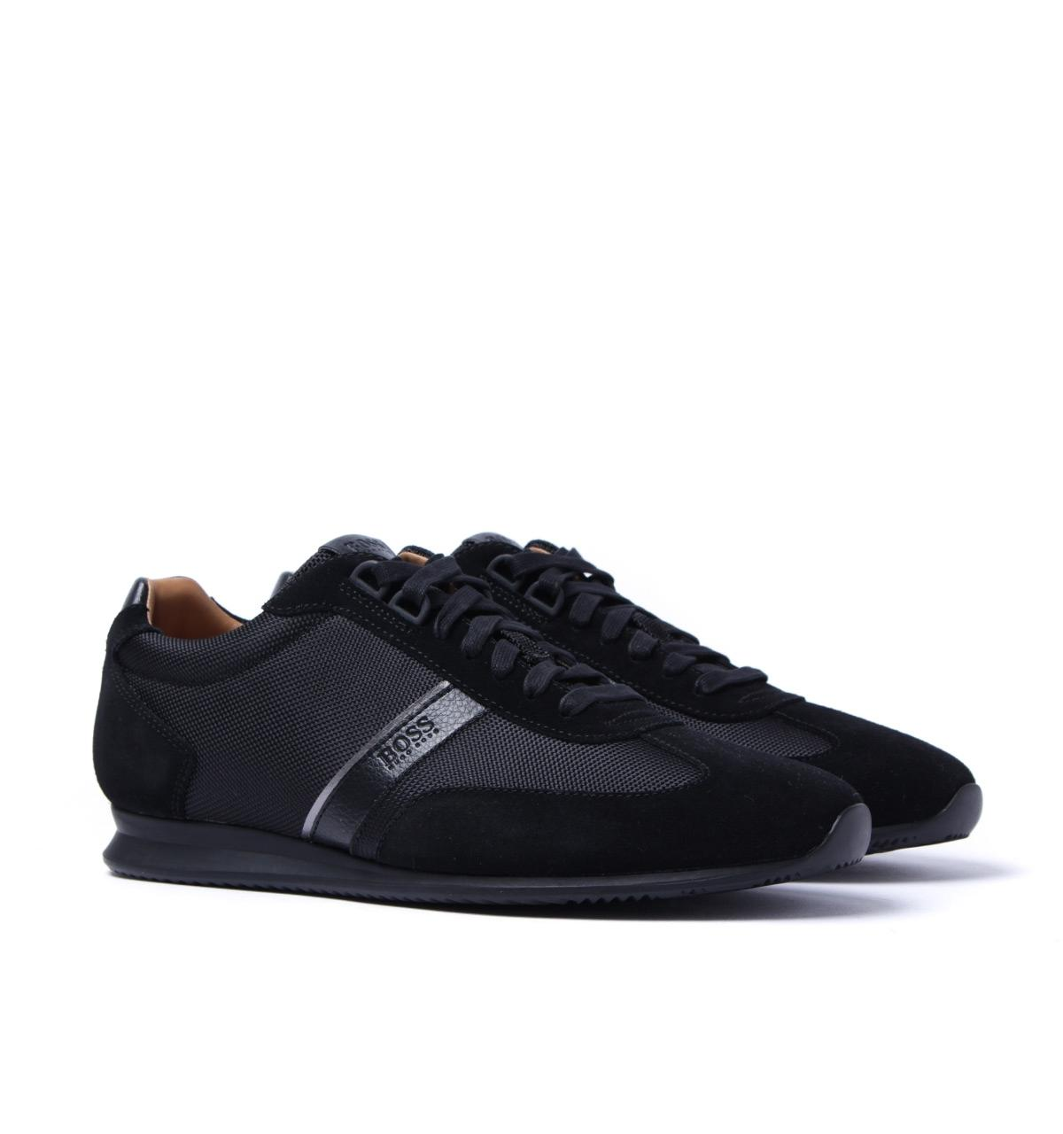 1f5c696b3ad Lyst - BOSS by Hugo Boss Boss Orland Lowp Black Trainers in Black ...