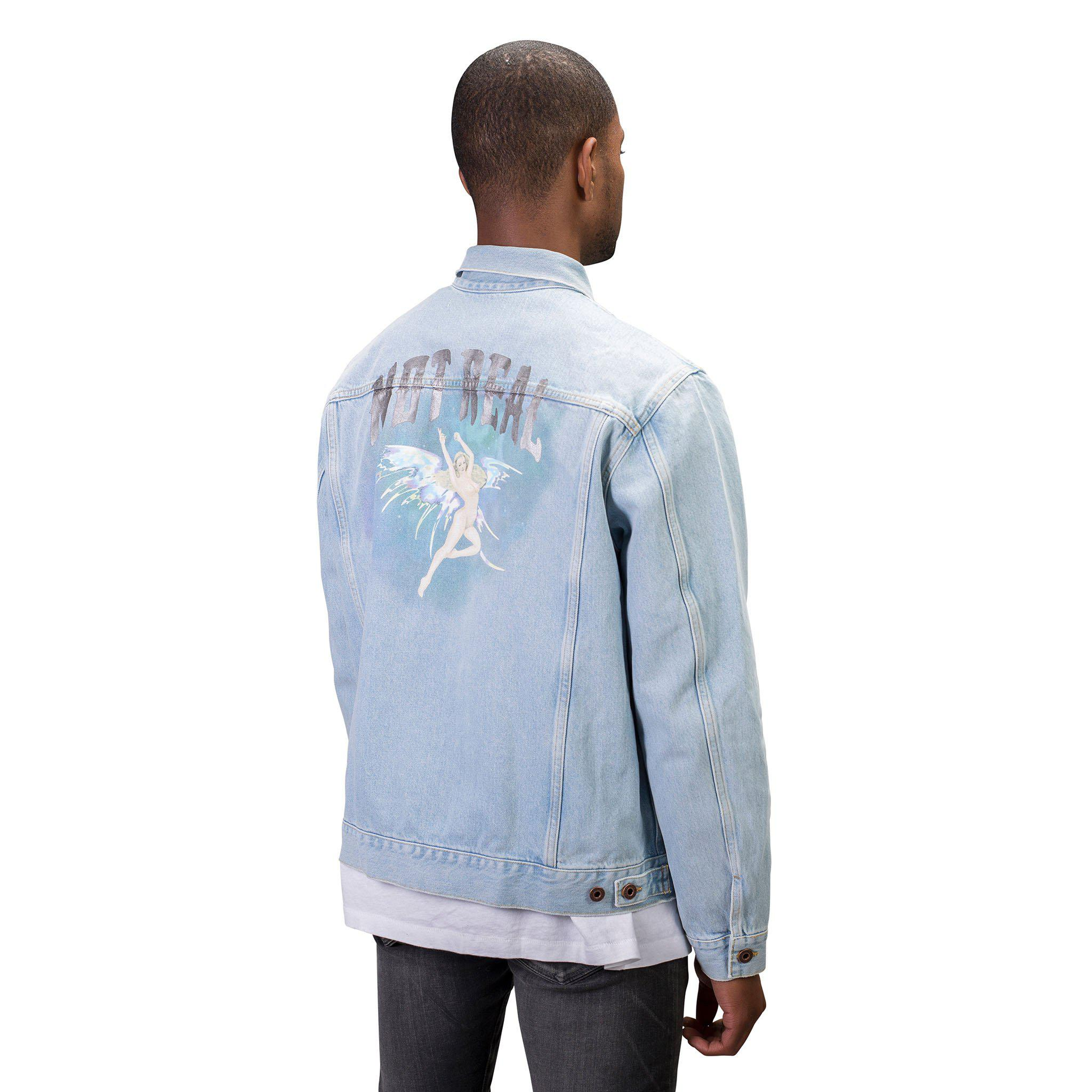 9c2f5c02dc90 Lyst - Off-White c o Virgil Abloh  not Real  Angel Oversized Denim ...
