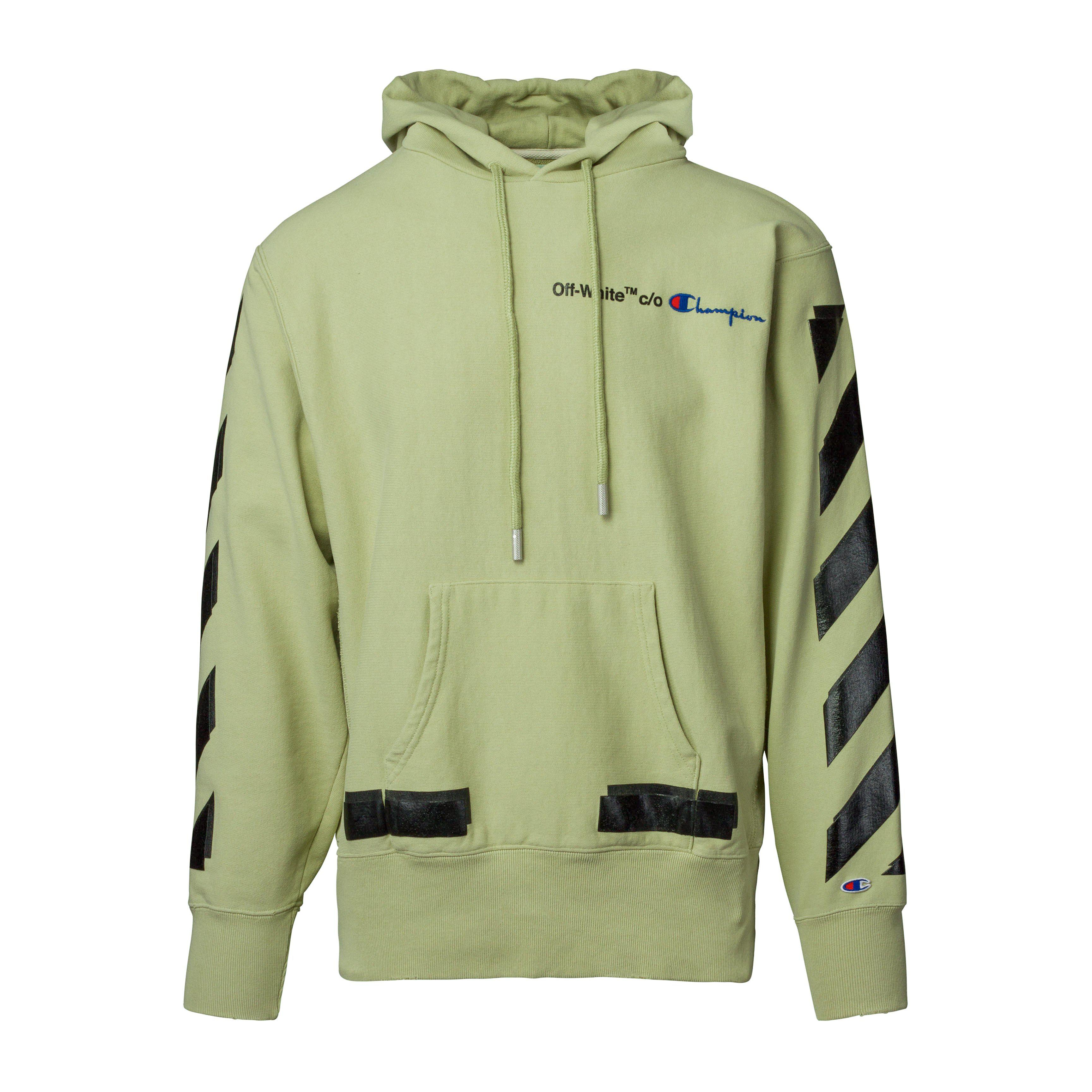 be2474bf Off-White c/o Virgil Abloh Champion Hoodie In Beige in Natural for ...
