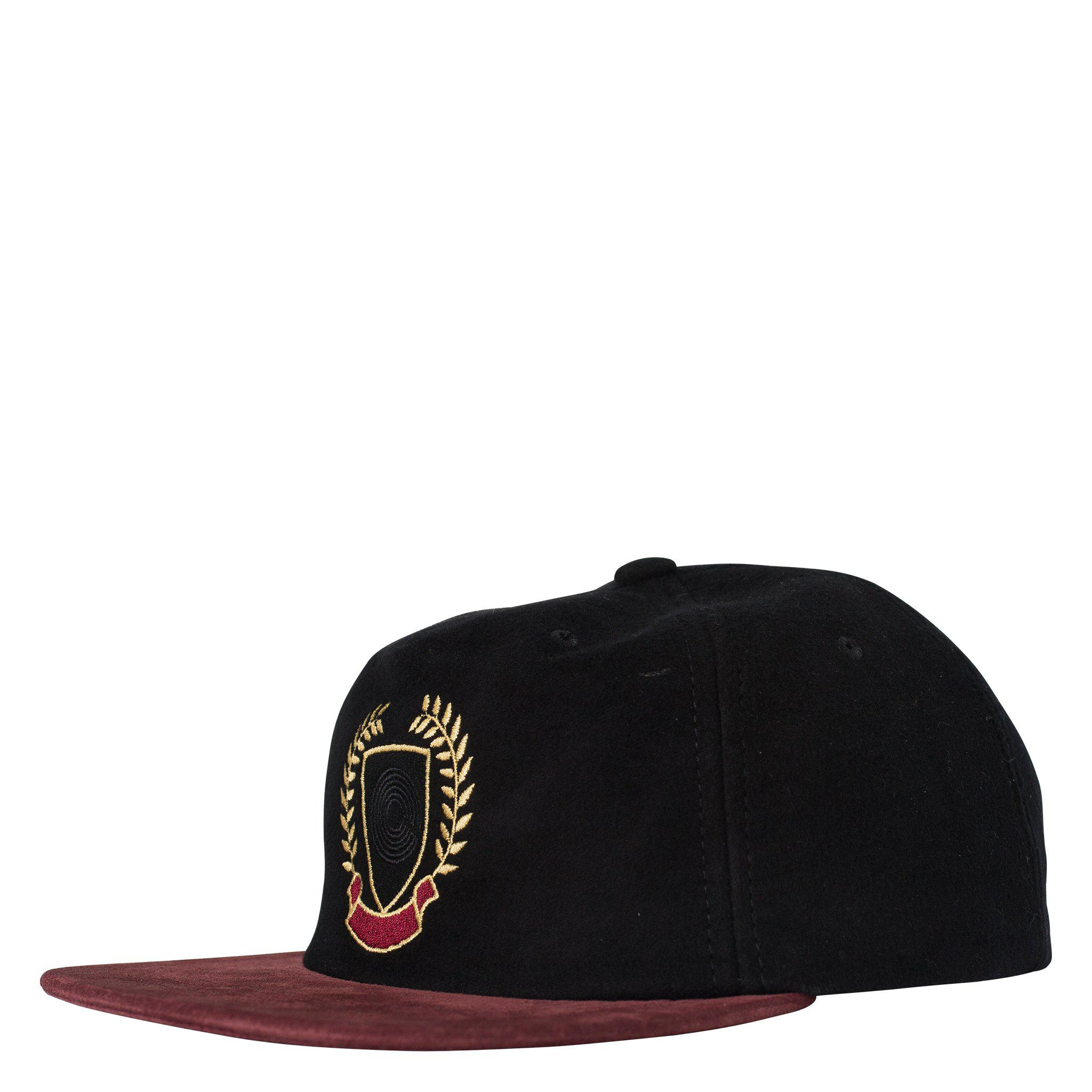 7eacf51dd3695 Yeezy Contrast Brim Crest Snapback in Black for Men - Lyst