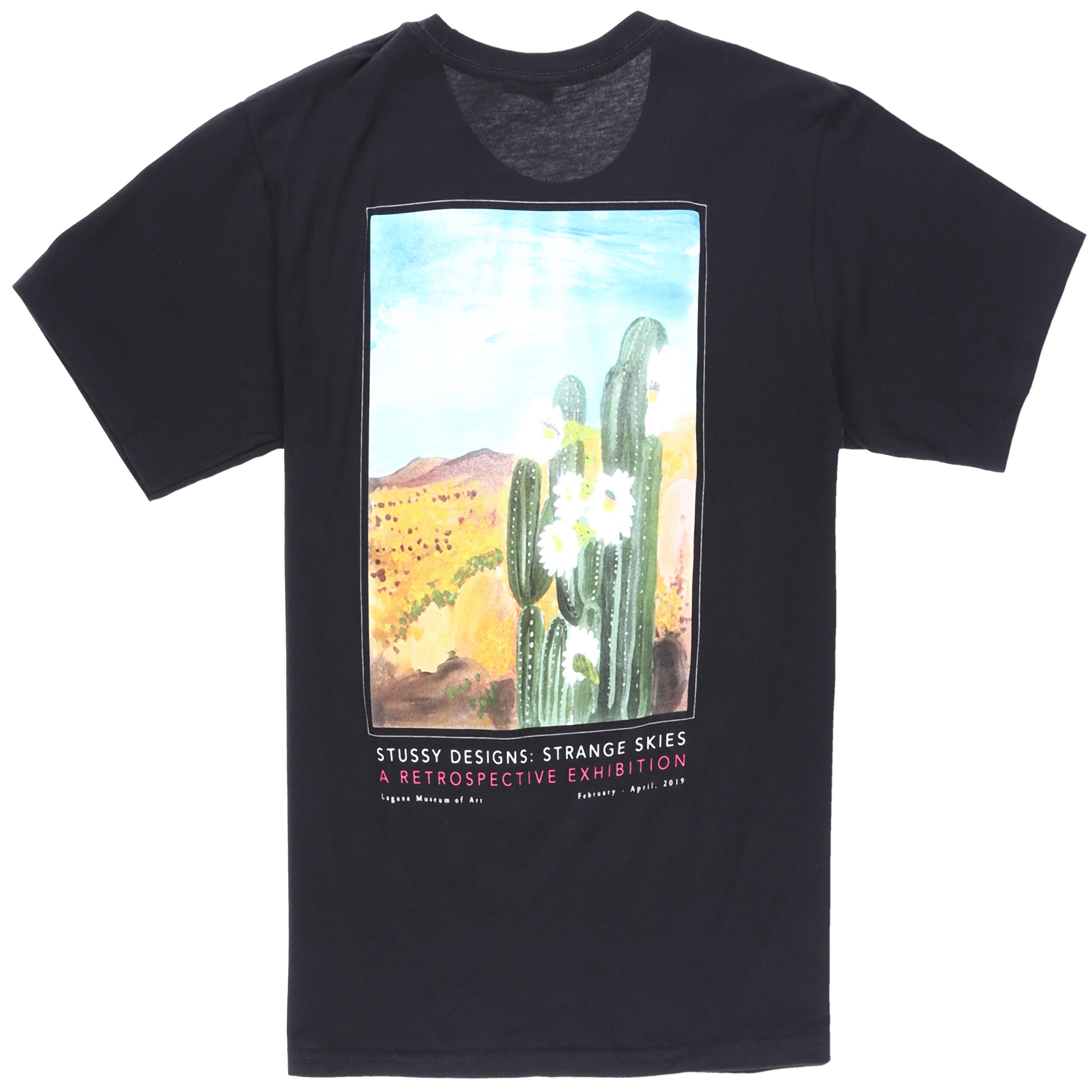 1613a9a27c05 Stussy Cactus Sky T-shirt in Black for Men - Lyst