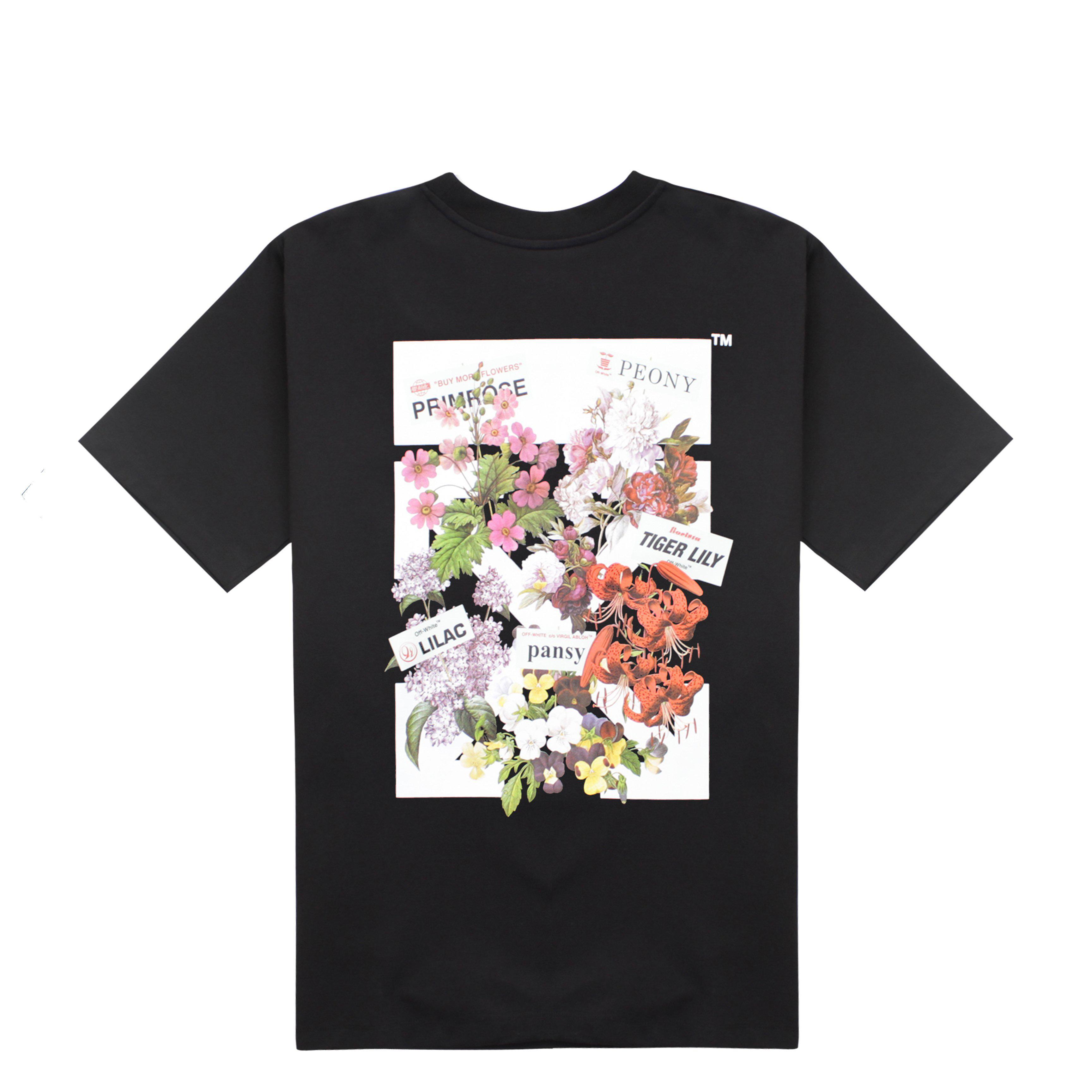 0cc28bb799d415 Off-White c/o Virgil Abloh Women's Flower Shop Tee in Black - Lyst