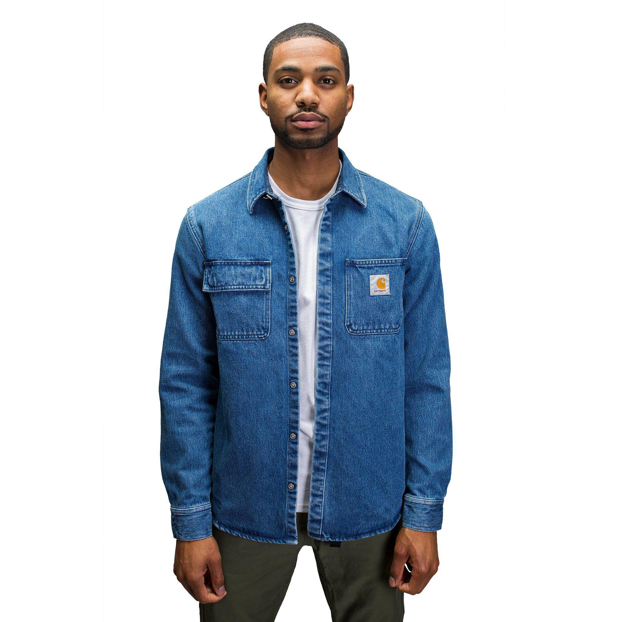 26c1038539 Lyst - Carhartt WIP Salinac Shirt Jacket in Blue for Men