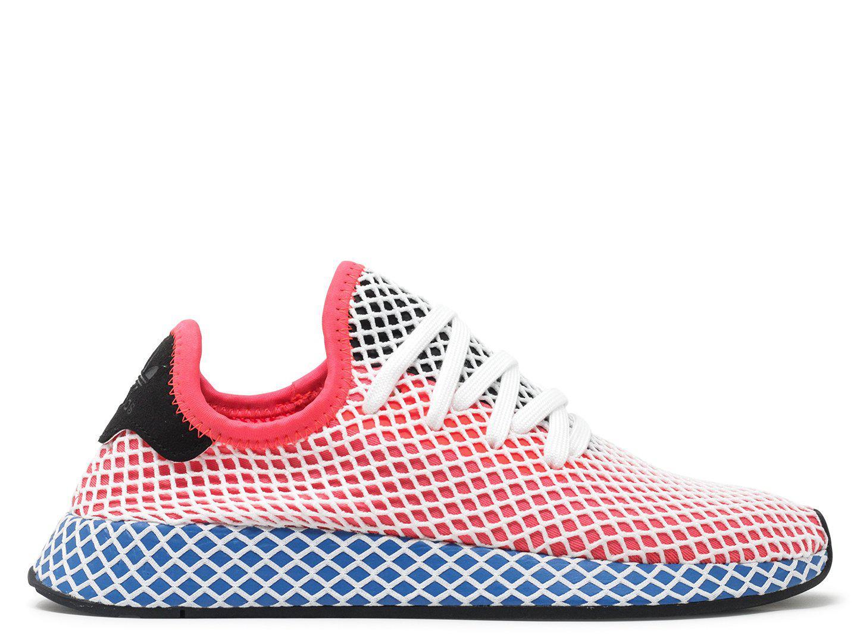 Adidas Originals Deerupt Formateurs Coureur En Rouge Et Bleu - Rouge aMFkt833