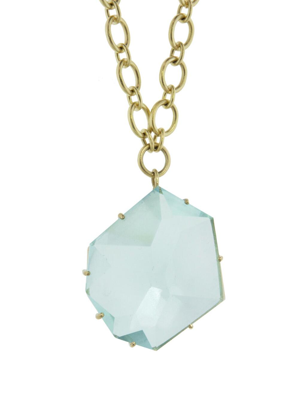 Lyst irene neuwirth one of a kind large aquamarine necklace irene neuwirth womens one of a kind large aquamarine necklace aloadofball Image collections