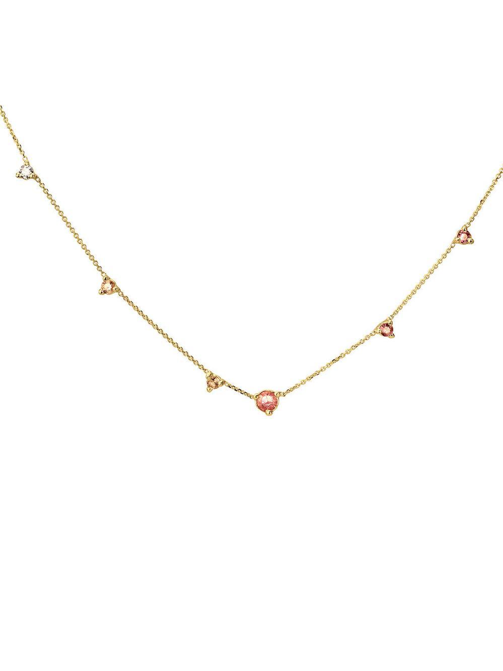 335ca0b18aea Lyst - Wwake Blush Gradient Linear Necklace