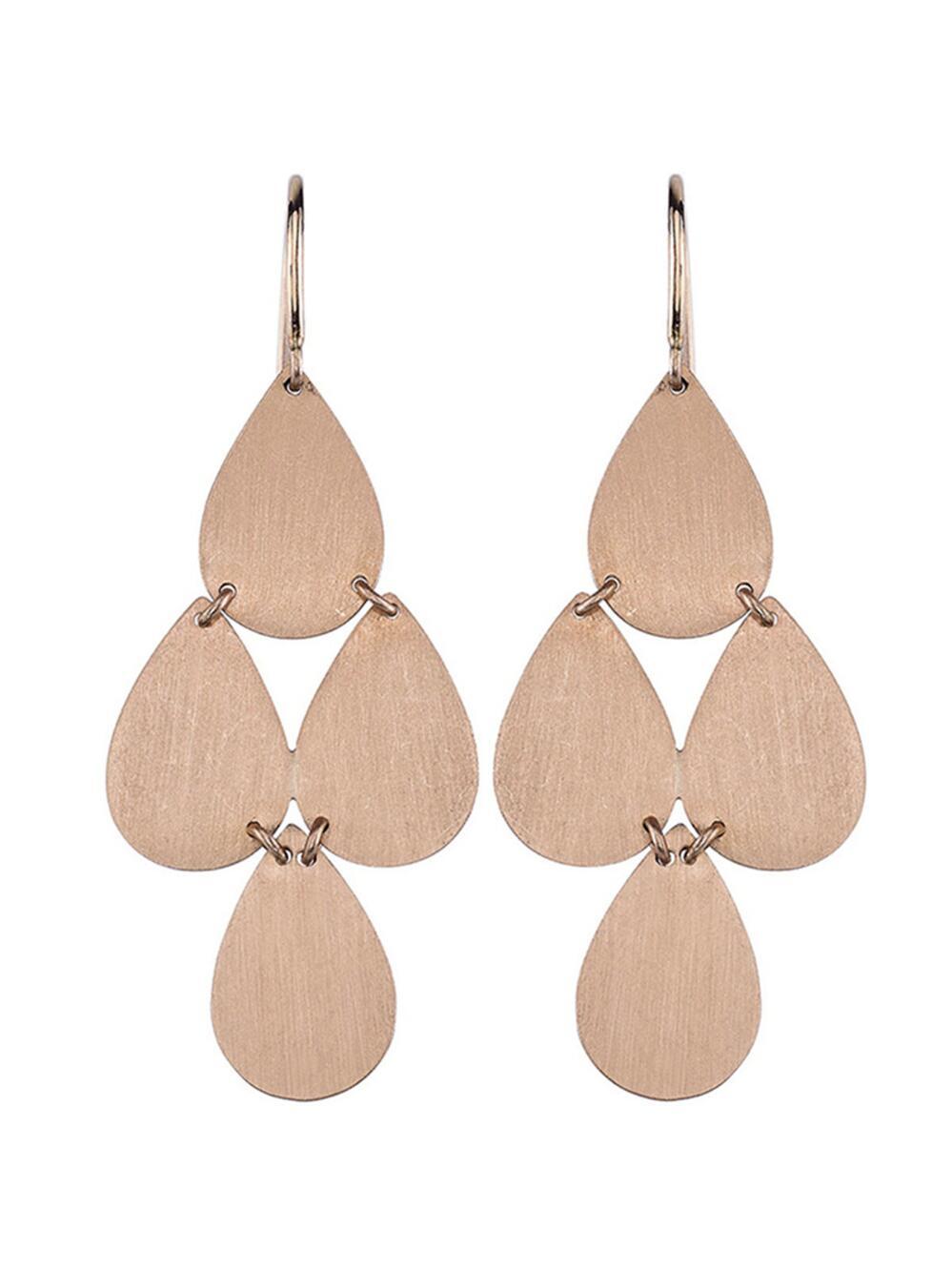 Irene Neuwirth Rose-gold chandelier earrings FZfSRlb4