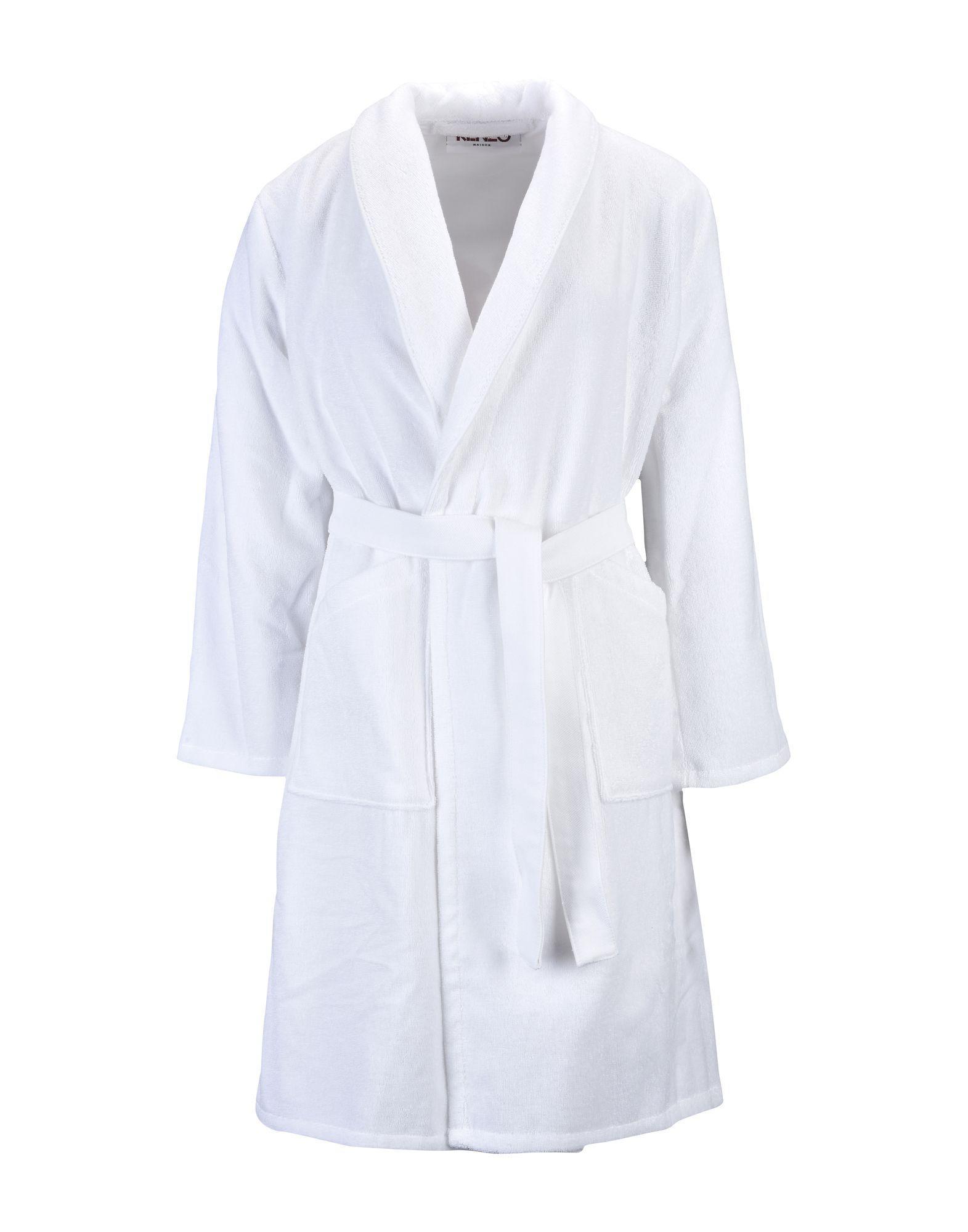 KENZO - White Towelling Dressing Gown for Men - Lyst. View fullscreen 72bc3e3fb