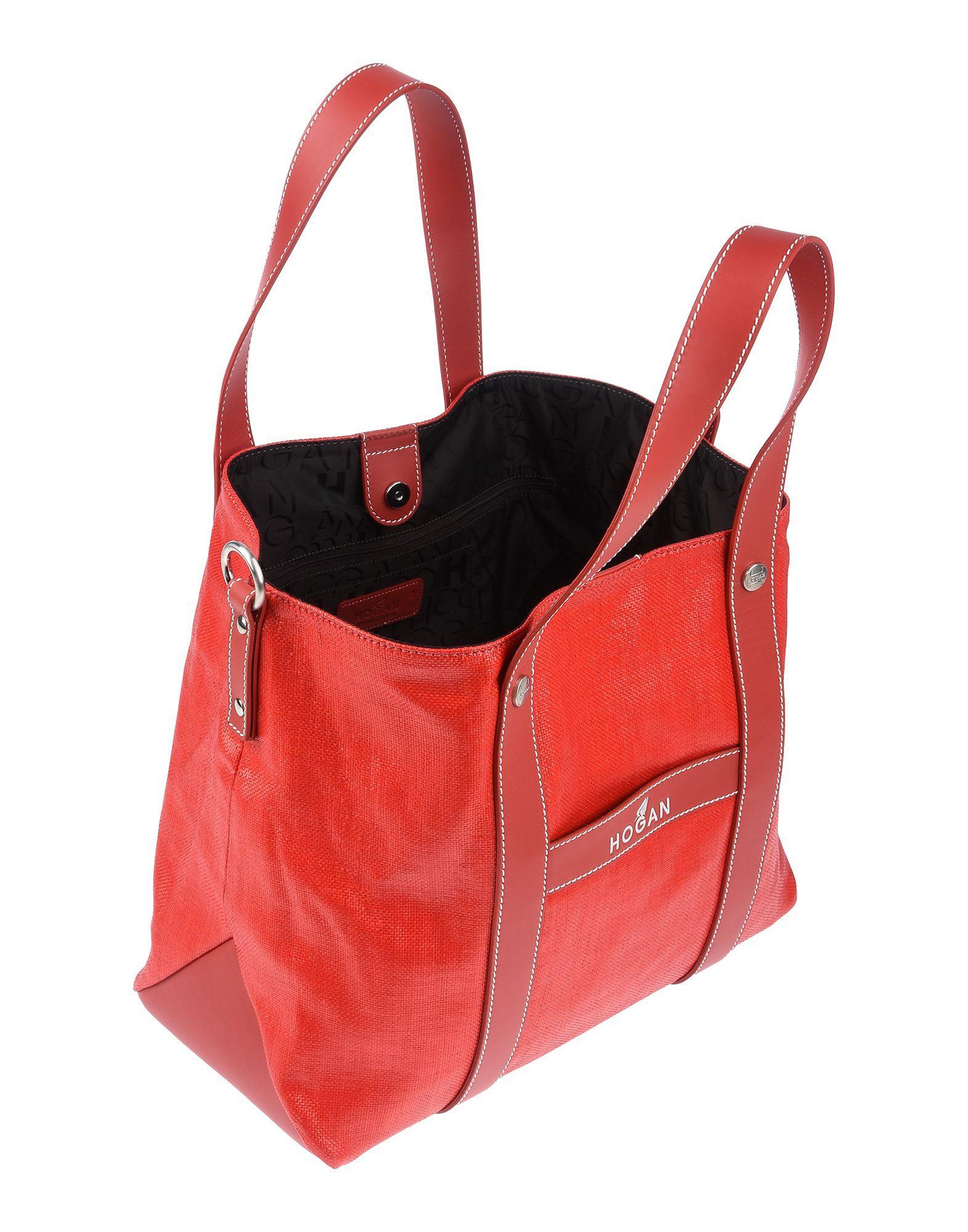99ca52fb498 Lyst - Hogan Handbag in Red