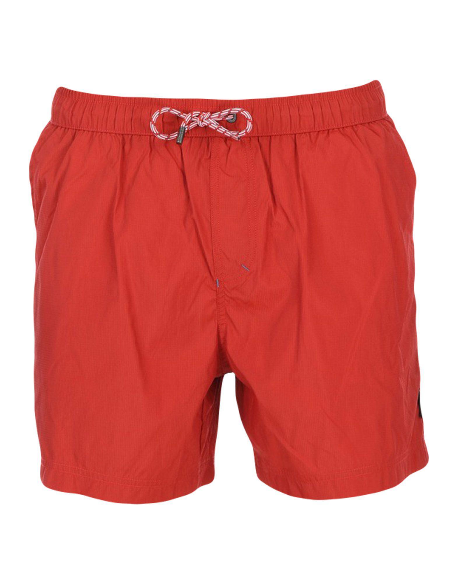 45f889d913 Lyst - Ermenegildo Zegna Swim Trunks in Red for Men