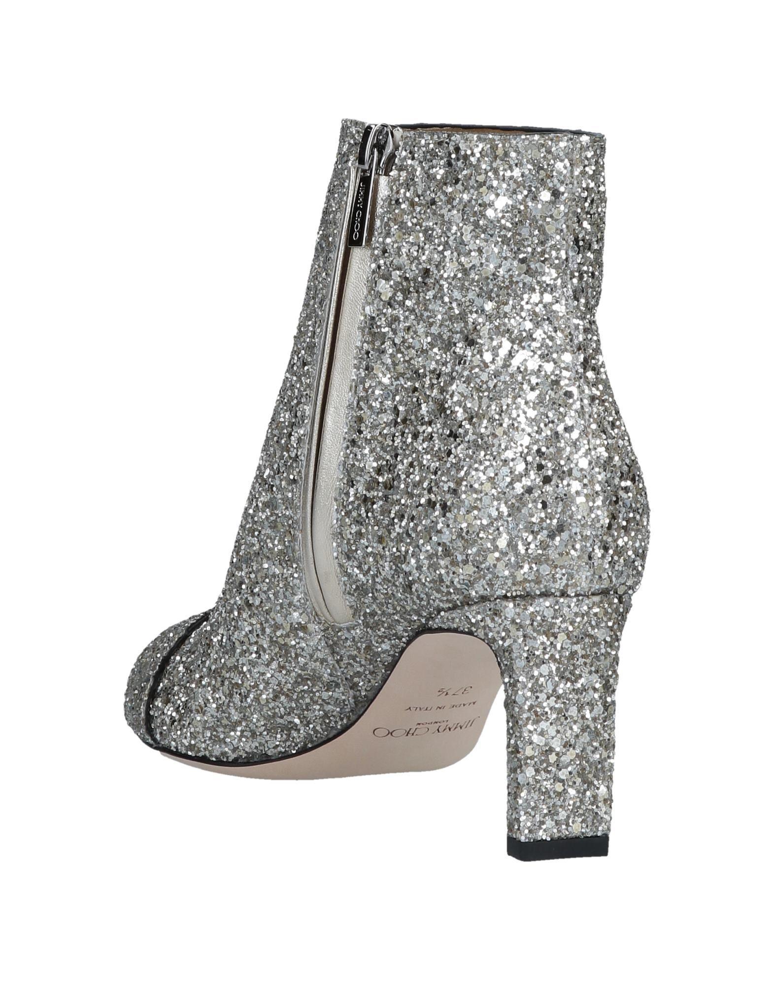 0adb2b361f4 Lyst - Jimmy Choo Boots Hanover 65 Fabric Glitter Silver Buckle in Gray -  Save 60%