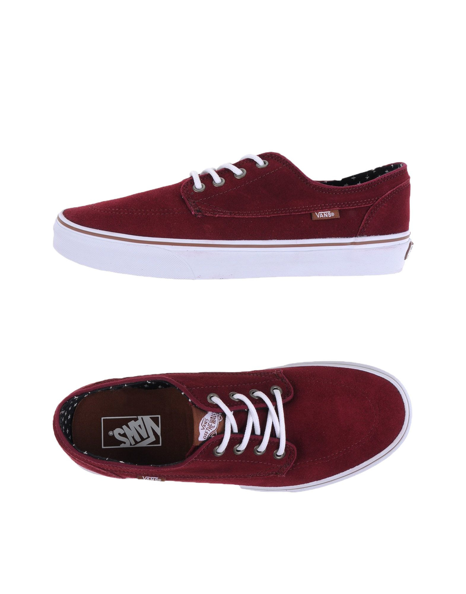 vans low tops trainers in red for men lyst. Black Bedroom Furniture Sets. Home Design Ideas