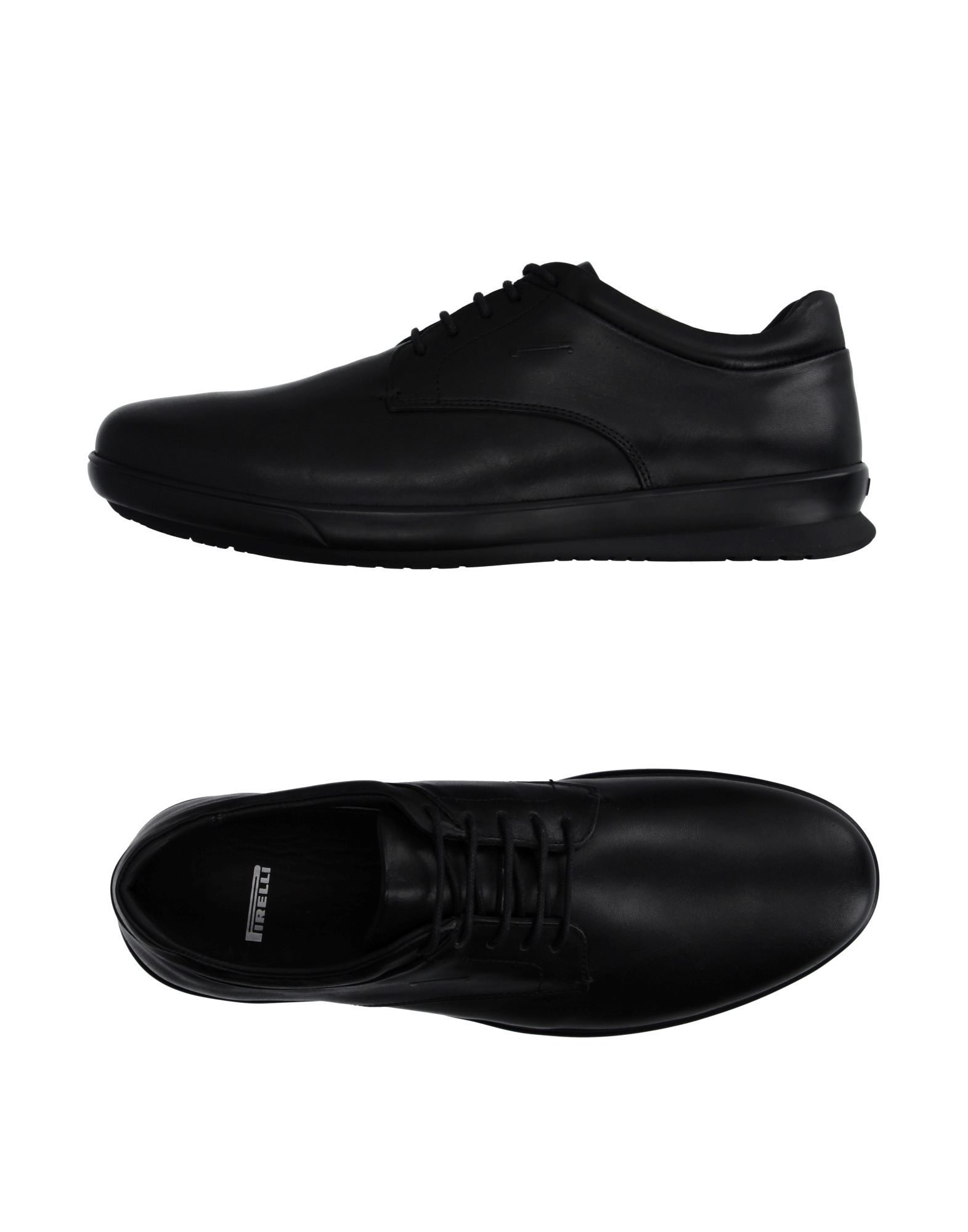 pirelli pzero lace up shoes in black for lyst