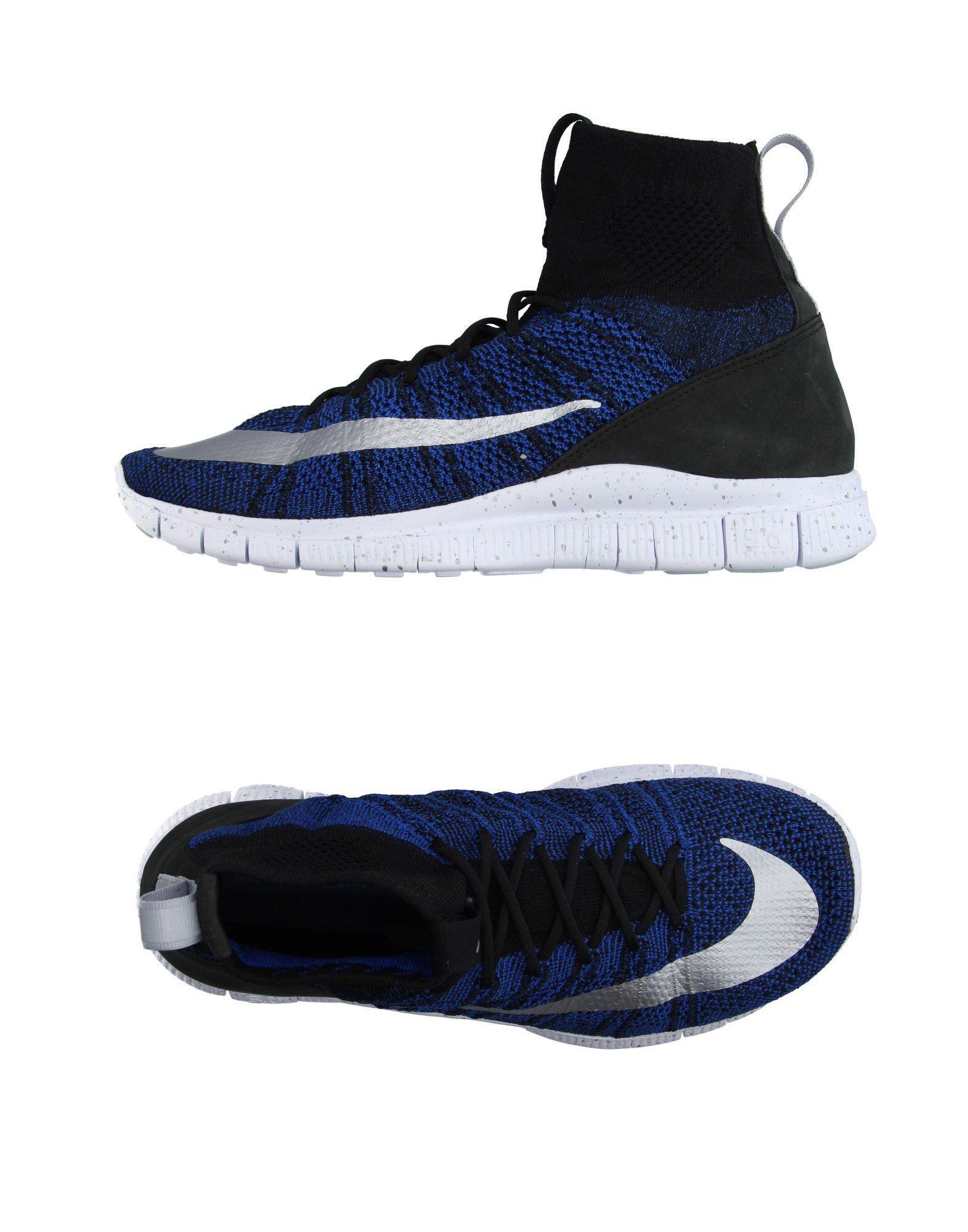 Nike Air Blue High Top Fabric Shoes