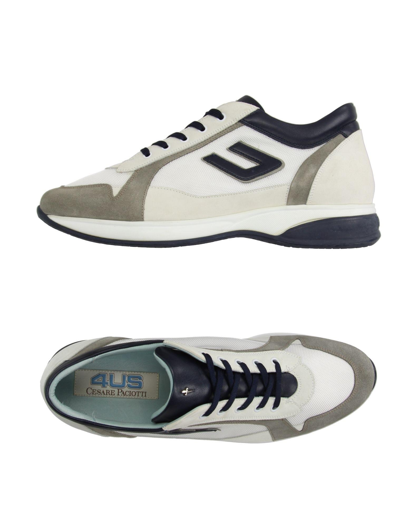 cesare paciotti low tops sneakers in white for lyst
