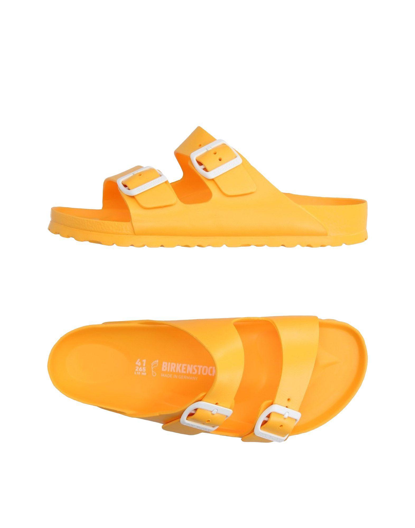 Rolf S Nyc Lyst Birkenstock Sandals In Yellow