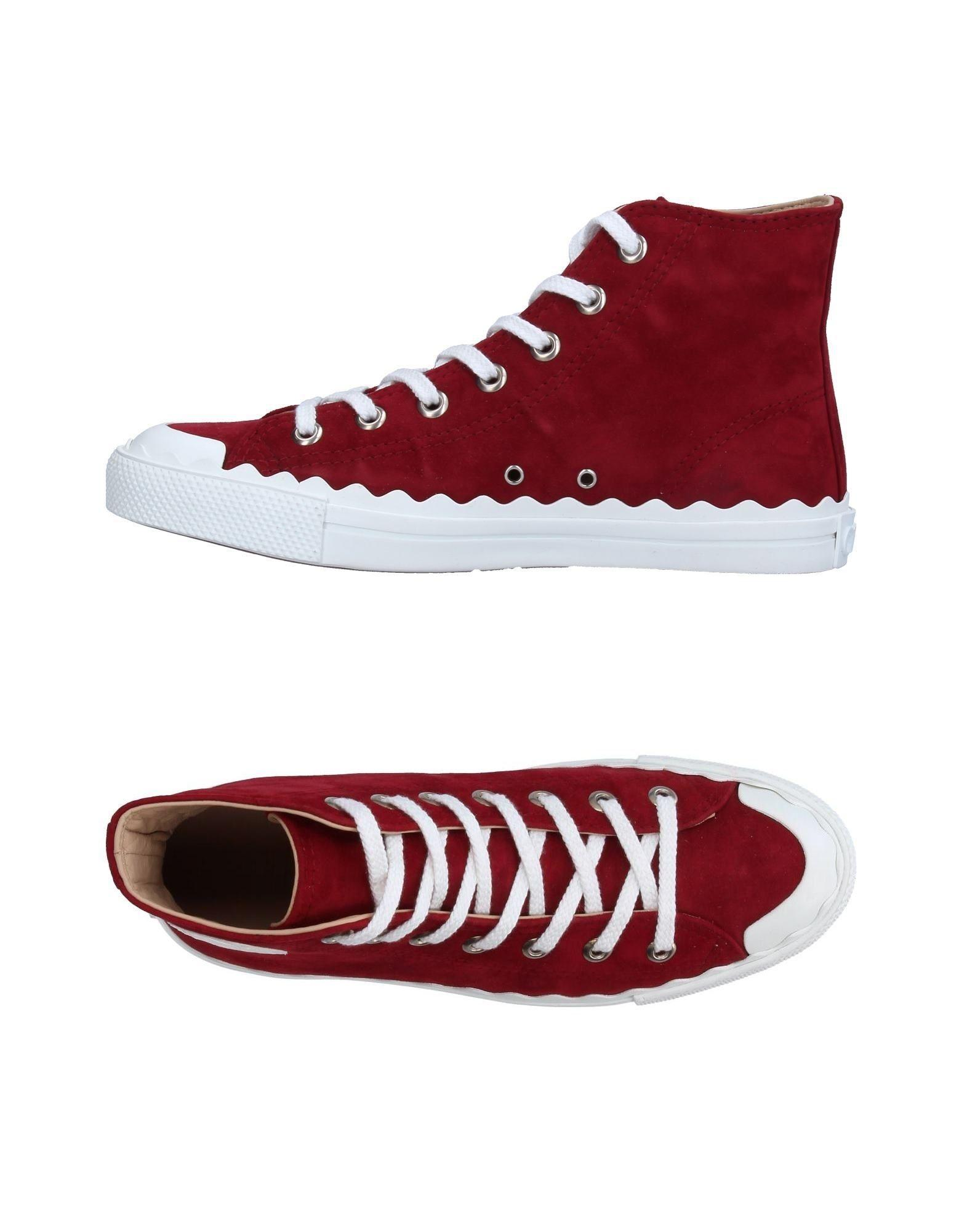 chlo high tops sneakers in red lyst. Black Bedroom Furniture Sets. Home Design Ideas