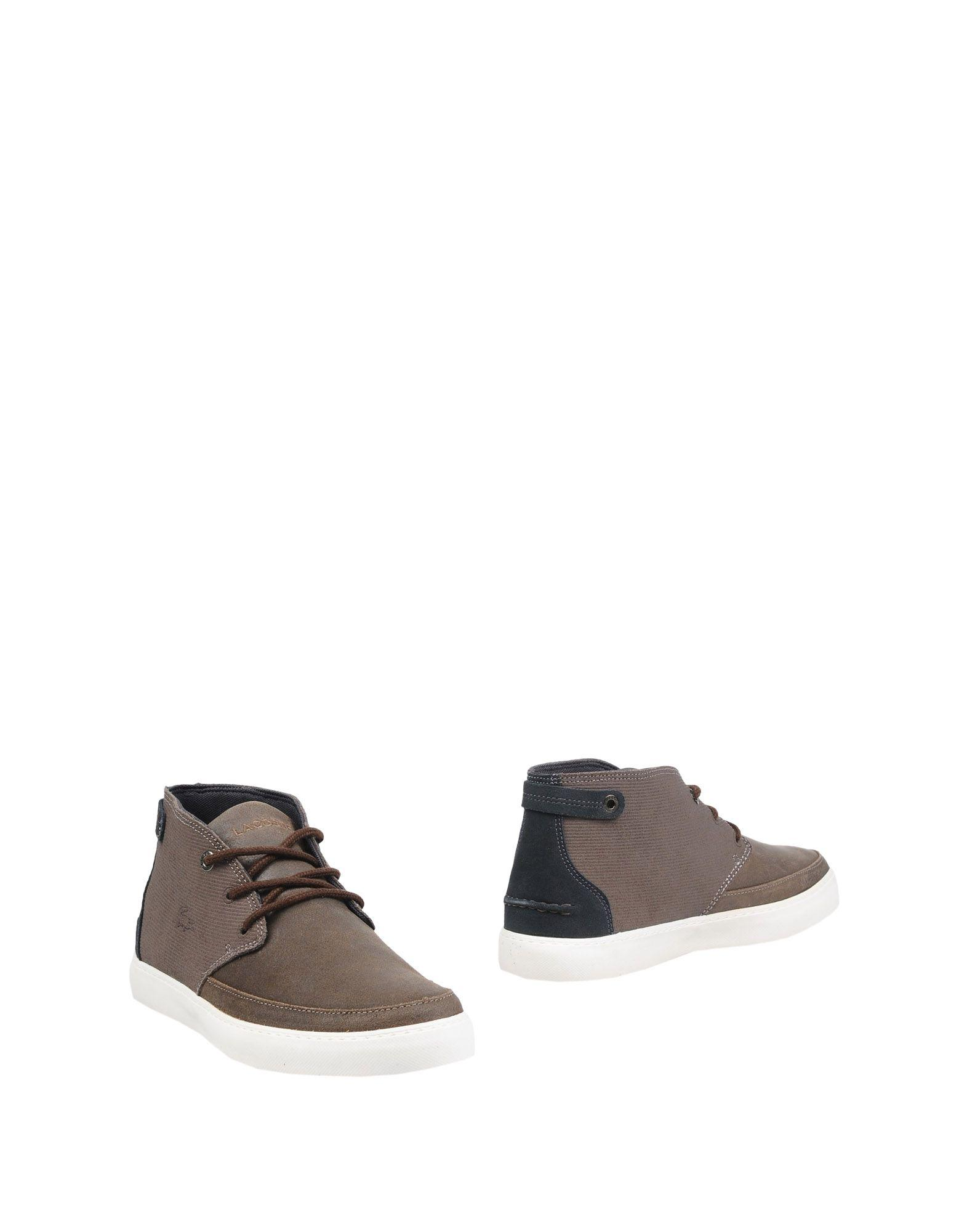lacoste ankle boots in brown lyst