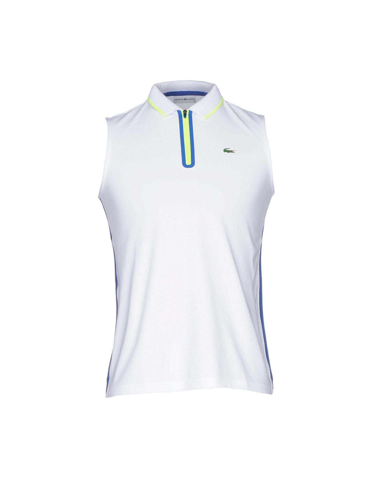 Lacoste sport polo shirt in white for men lyst for Lacoste poloshirt weiay