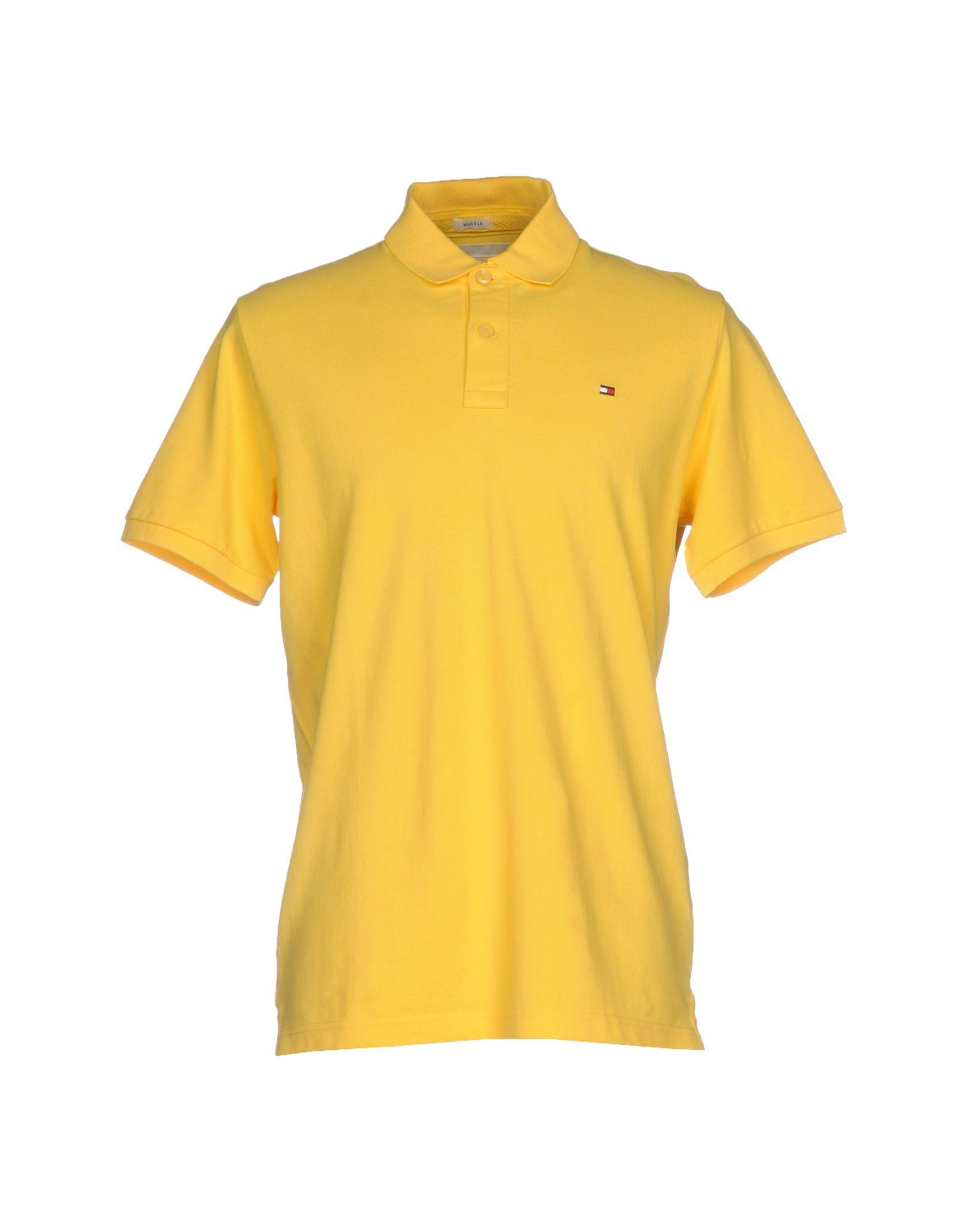 tommy hilfiger polo shirt in yellow for men lyst. Black Bedroom Furniture Sets. Home Design Ideas