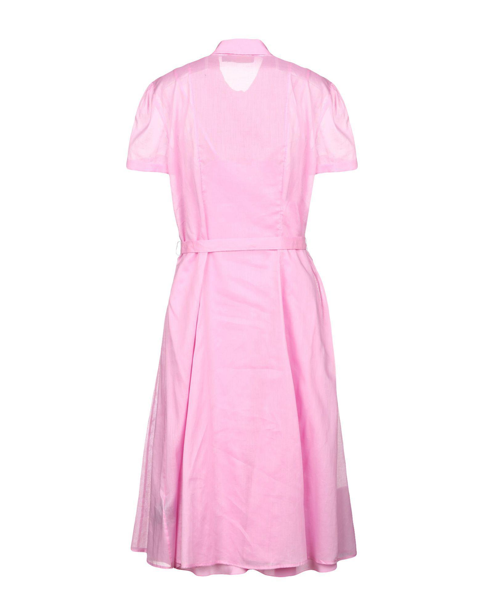 Genoux Ralph Coloris Rose Lyst Robe Polo En Lauren Aux 0vNnwm8O
