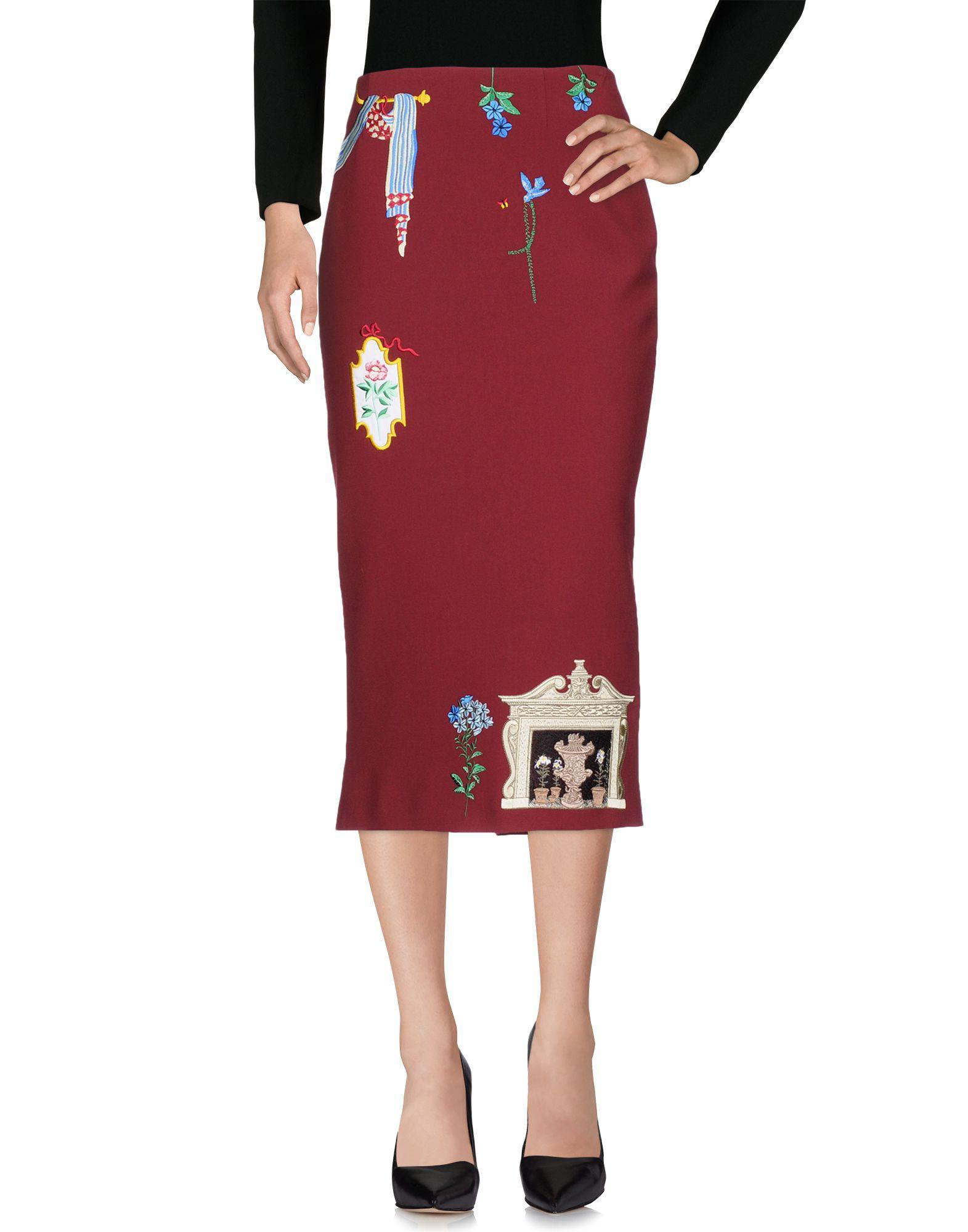 fd71a24a7f Vivetta 3/4 Length Skirt in Red - Lyst