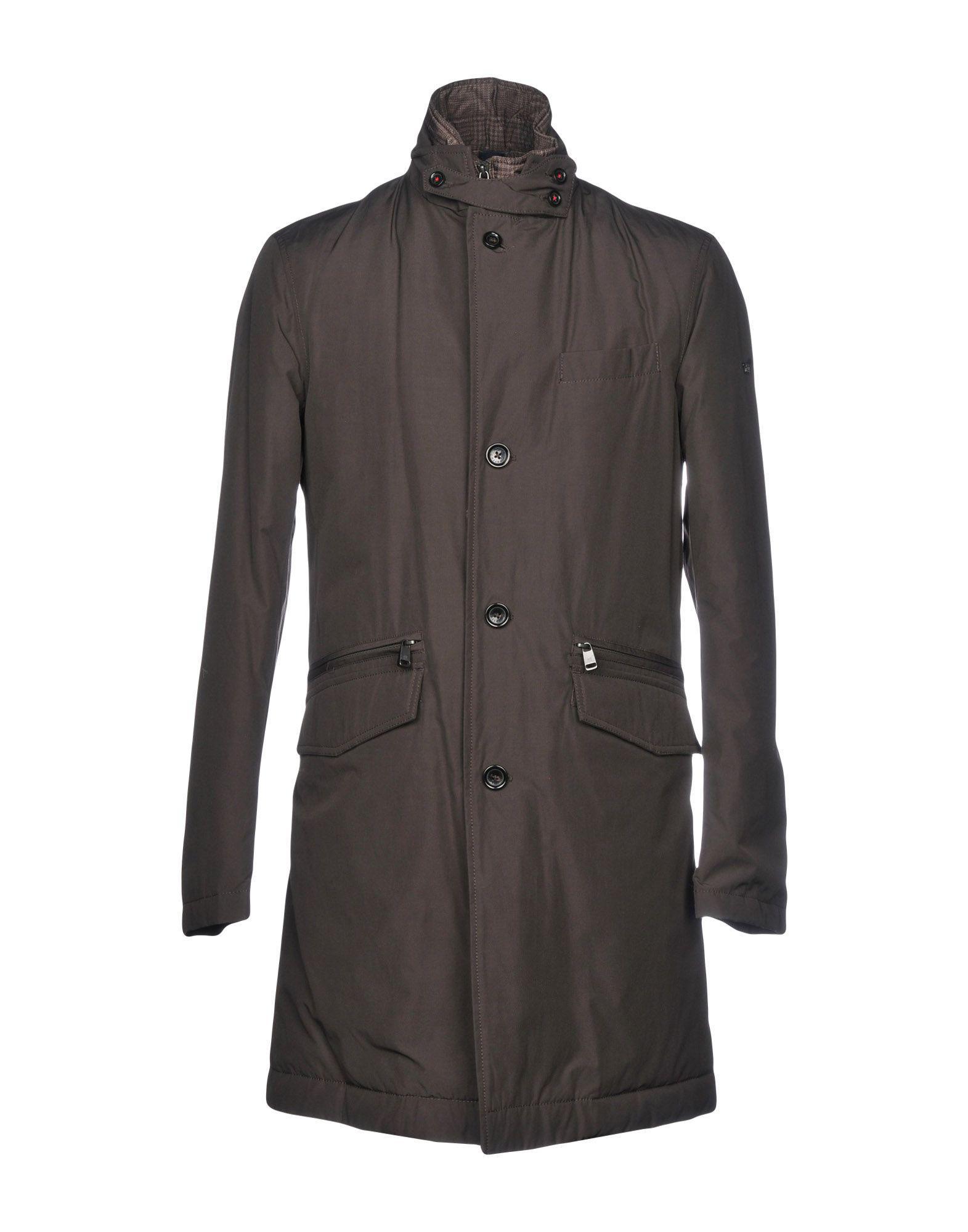 manteau en pour Lyst Henry Le hommes les brun Cotton de IAq4cdR