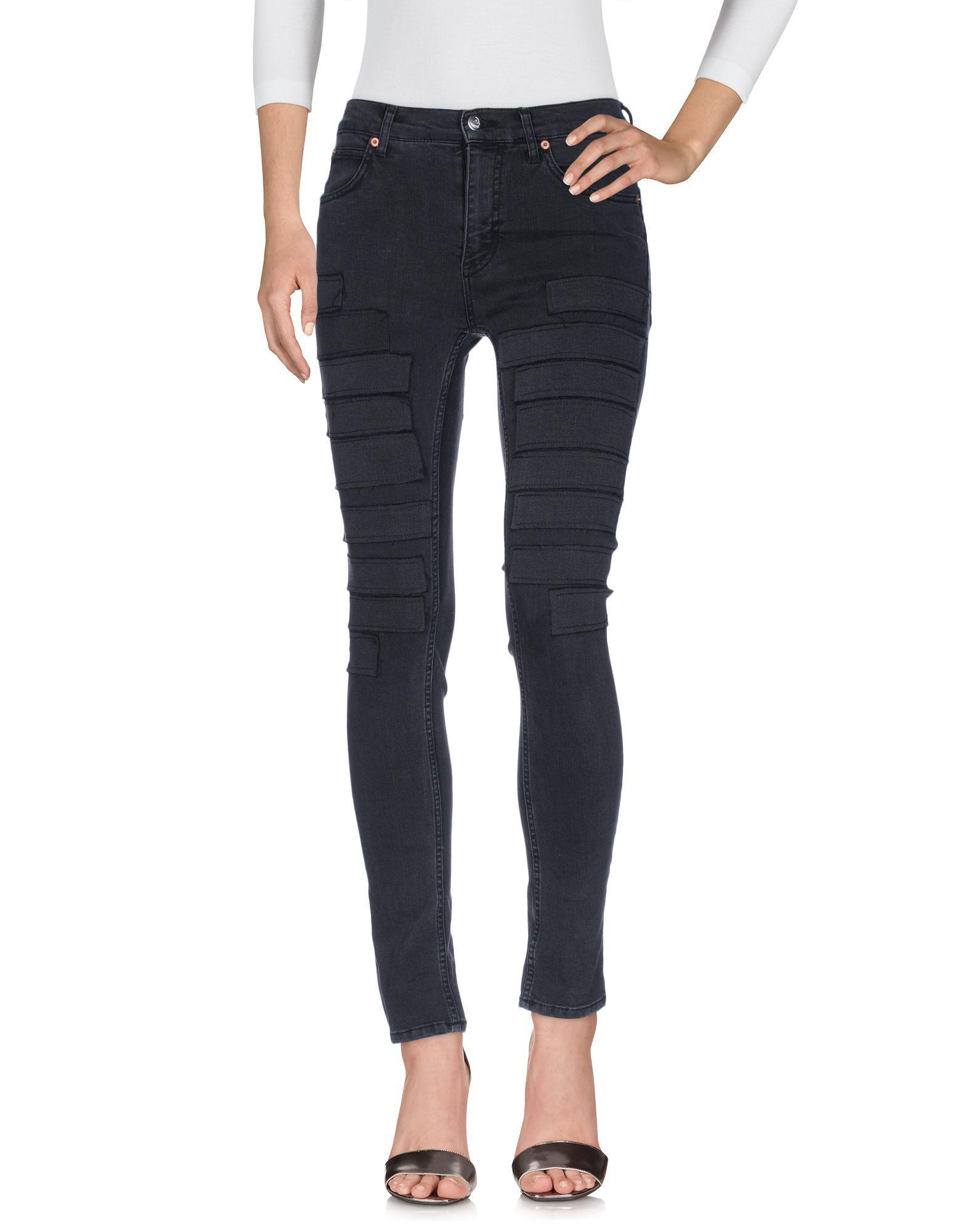 Lyst - Cheap Monday Denim Trousers in Black cbe6a07063f