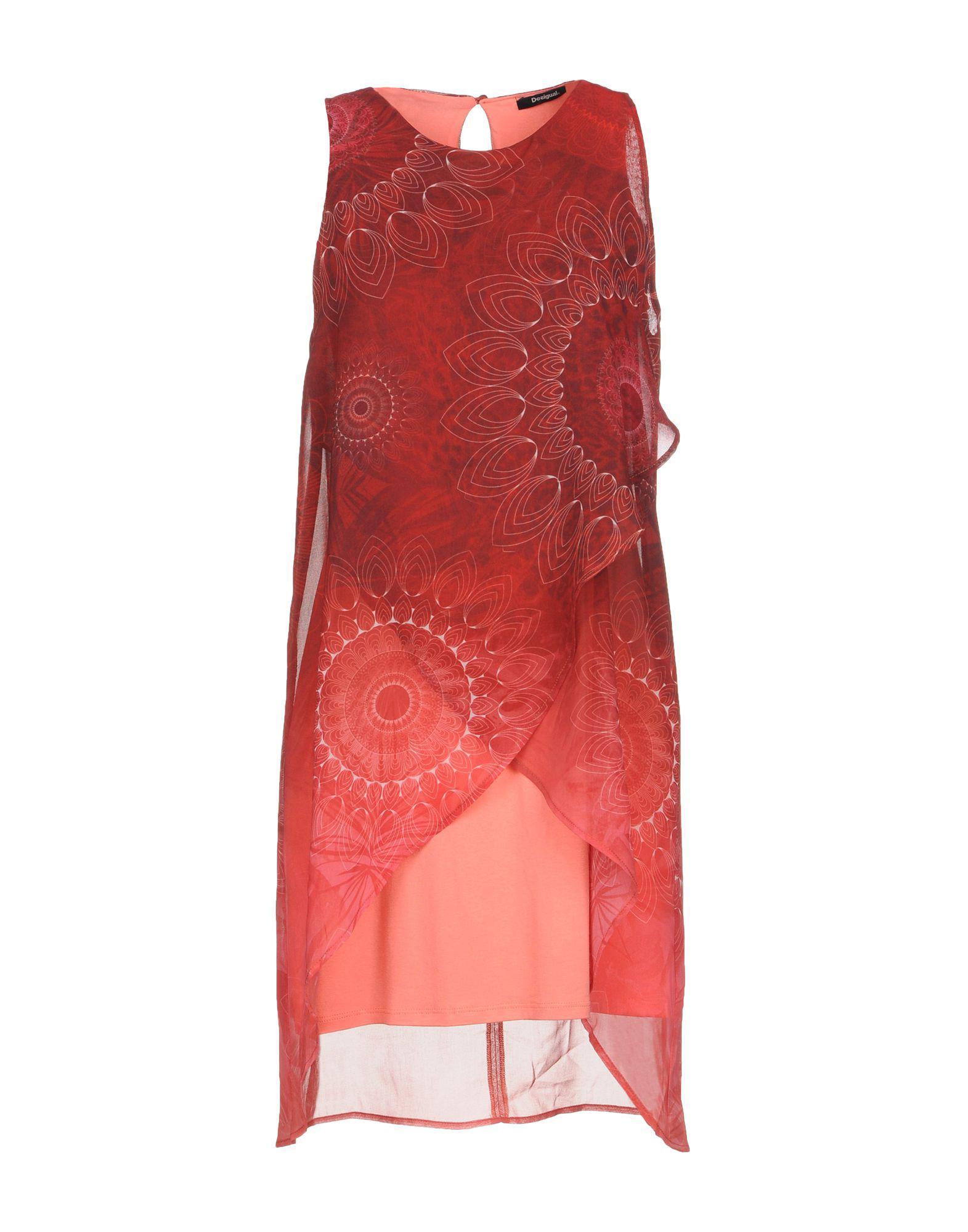 Desigual Short Dress in Red - Lyst