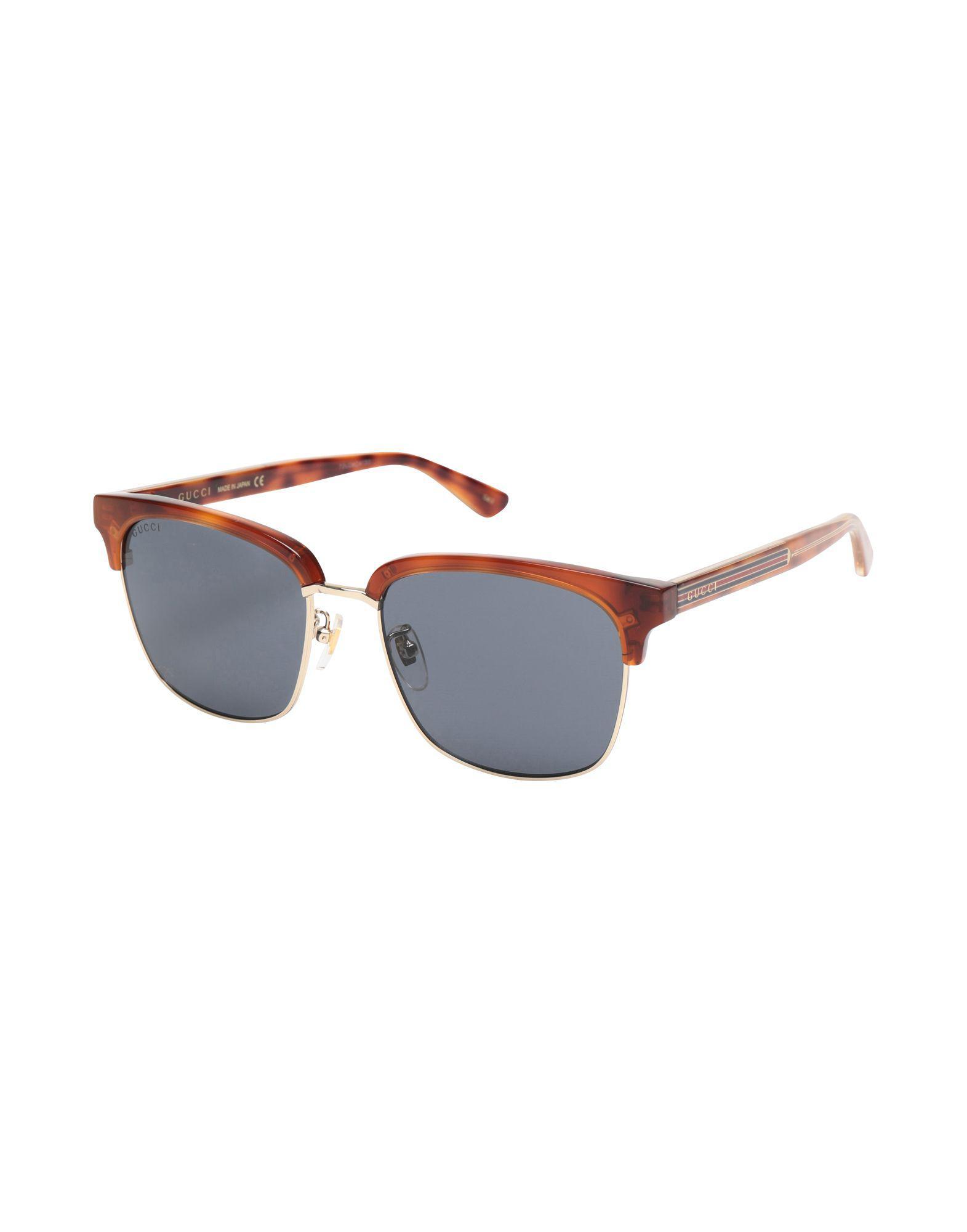 162e9f6233c Gucci - Brown Sunglasses for Men - Lyst. View fullscreen