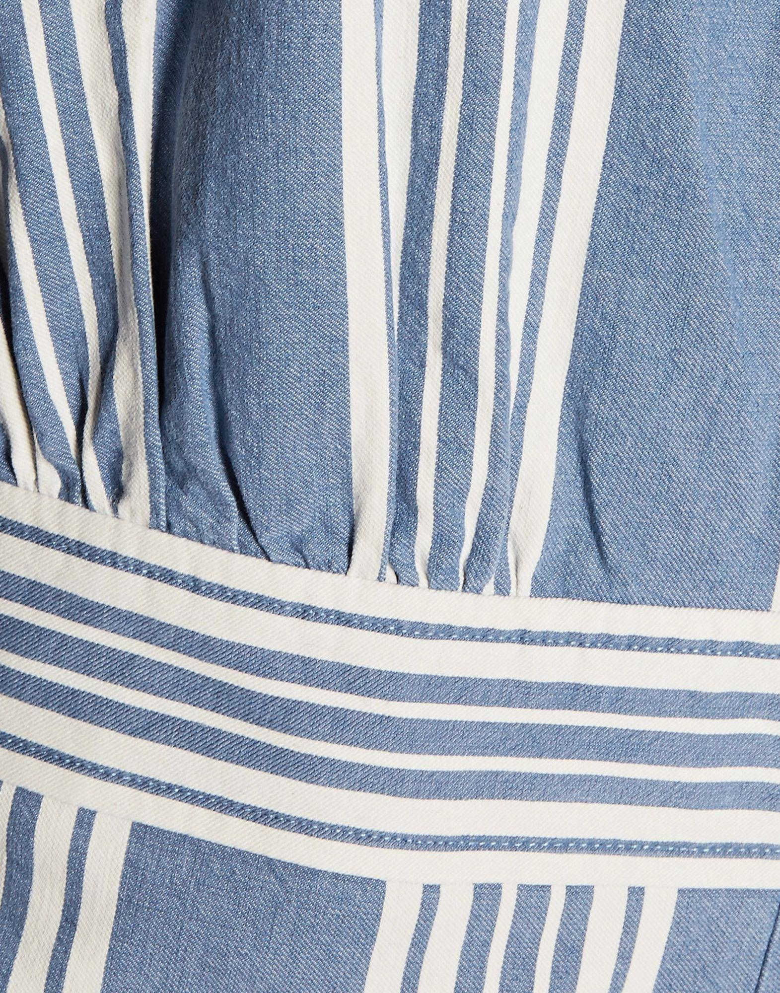 ddce5d8a32c M.i.h Jeans Striped Cotton-chambray Jumpsuit Mid Denim Size Xs in Blue -  Save 69.62616822429906% - Lyst