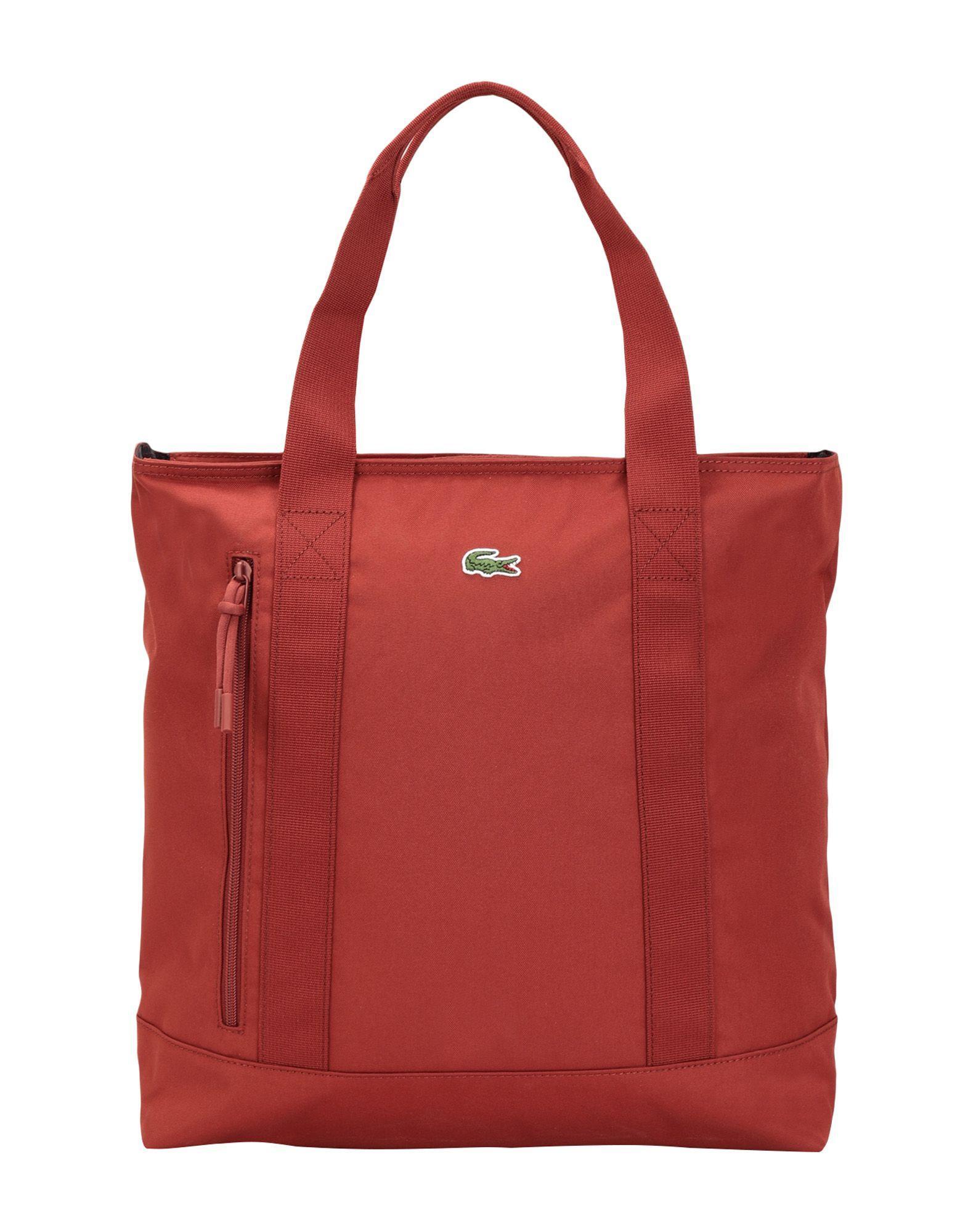5a1175bbd Bolso de mano Lacoste de hombre de color Rojo - Lyst