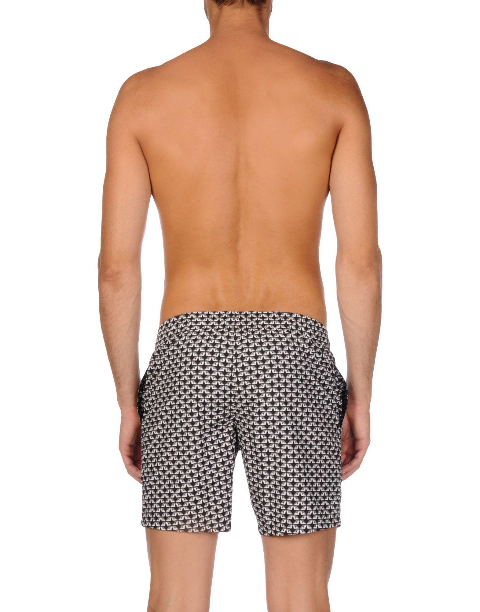 5138fac9d6 Lyst - Fendi Swim Trunks in Gray for Men