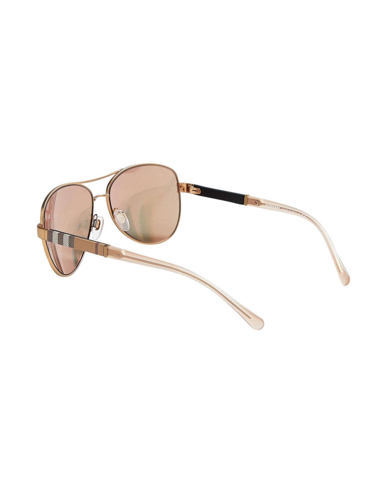 ab5a5efd75e Lyst - Burberry Sunglasses in Metallic