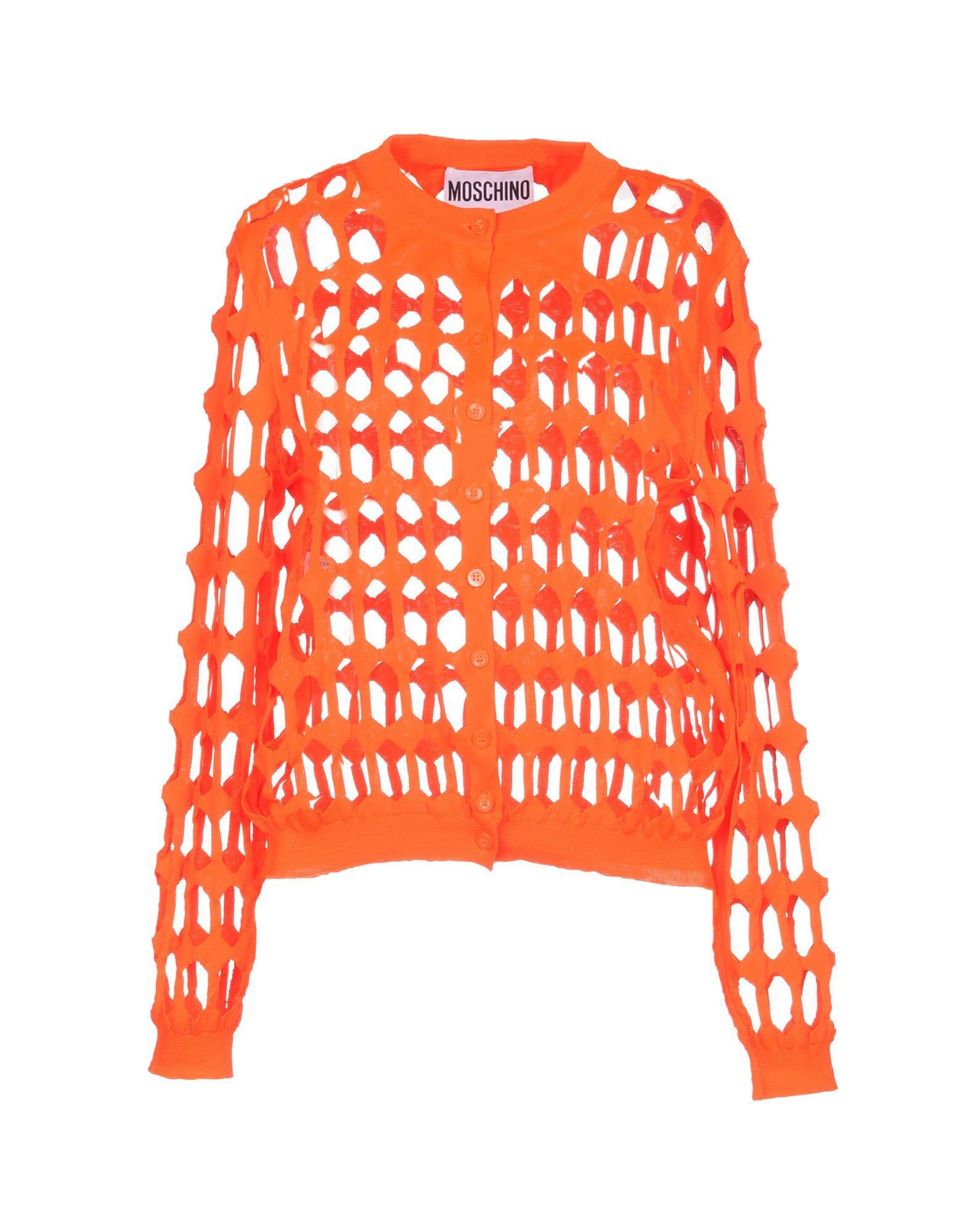 d482f50f3 Moschino Cardigan in Orange - Lyst