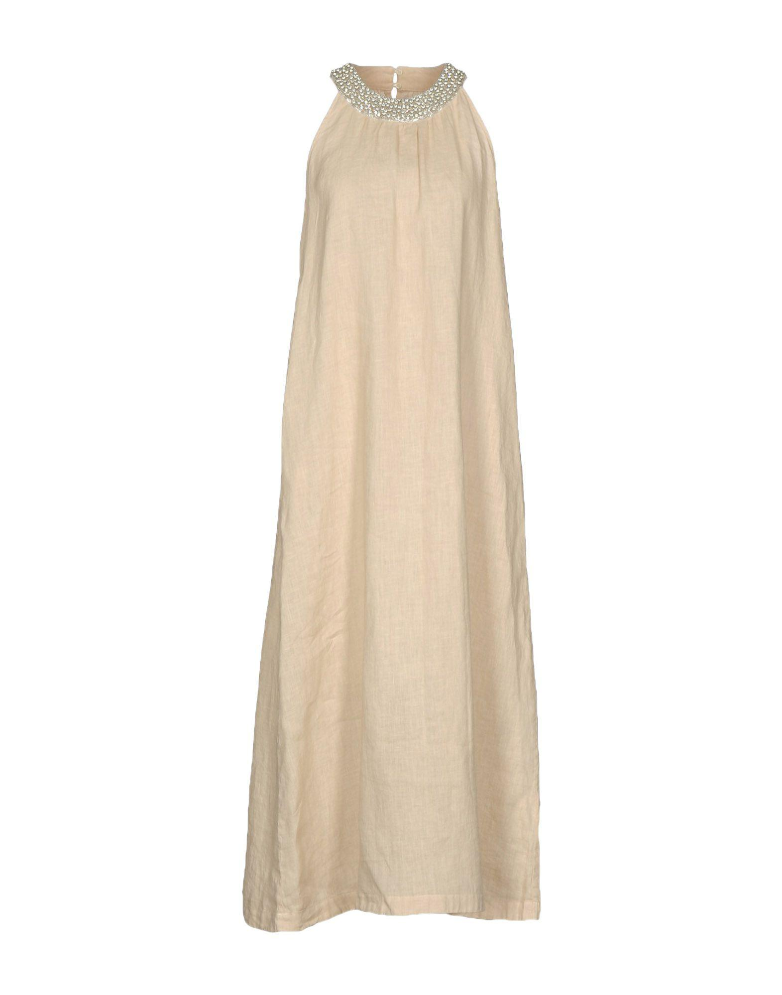 ed1d261e88 Lyst - 120% Lino Long Dress in Natural