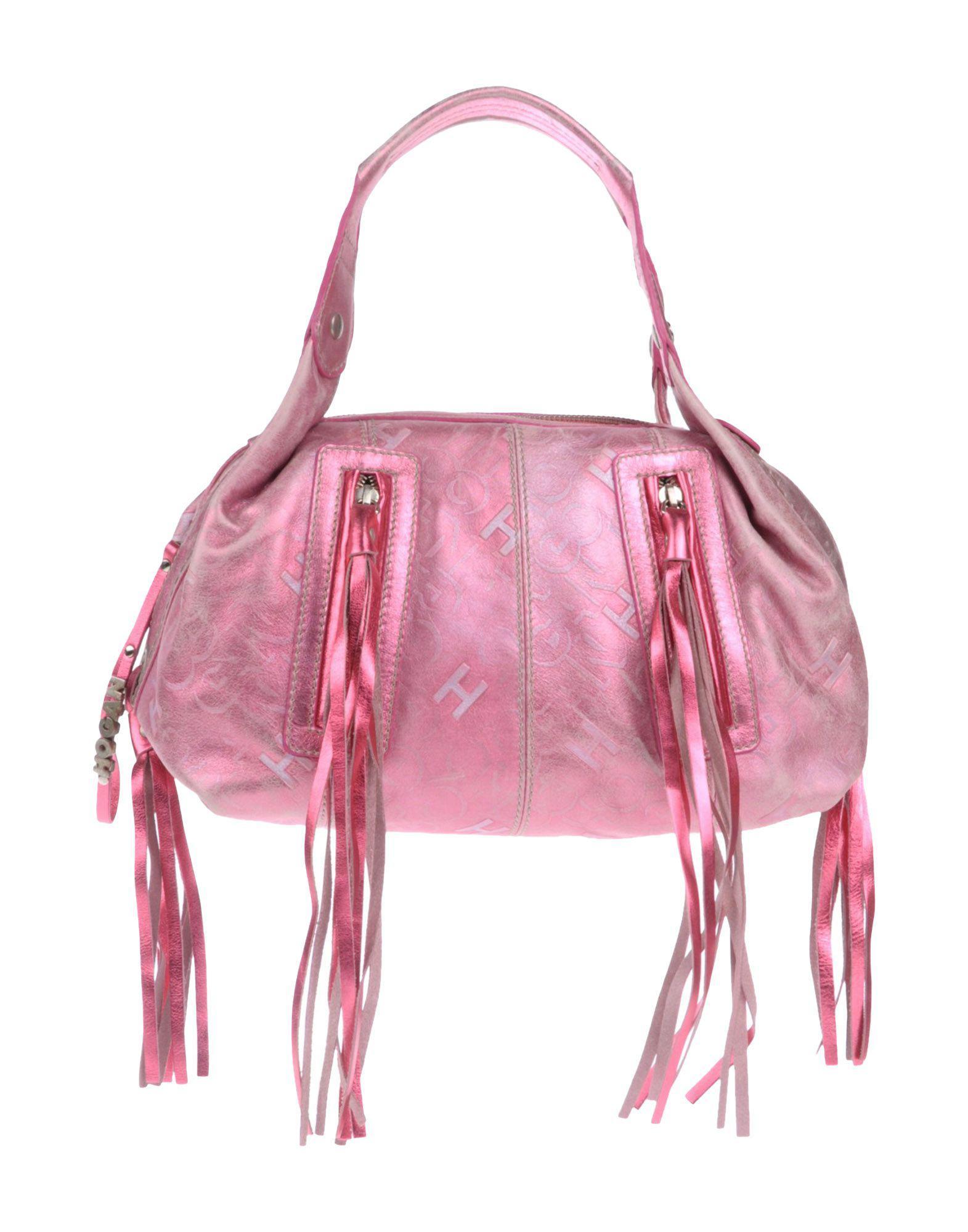 811056dab76 Lyst - Hogan Handbag in Pink