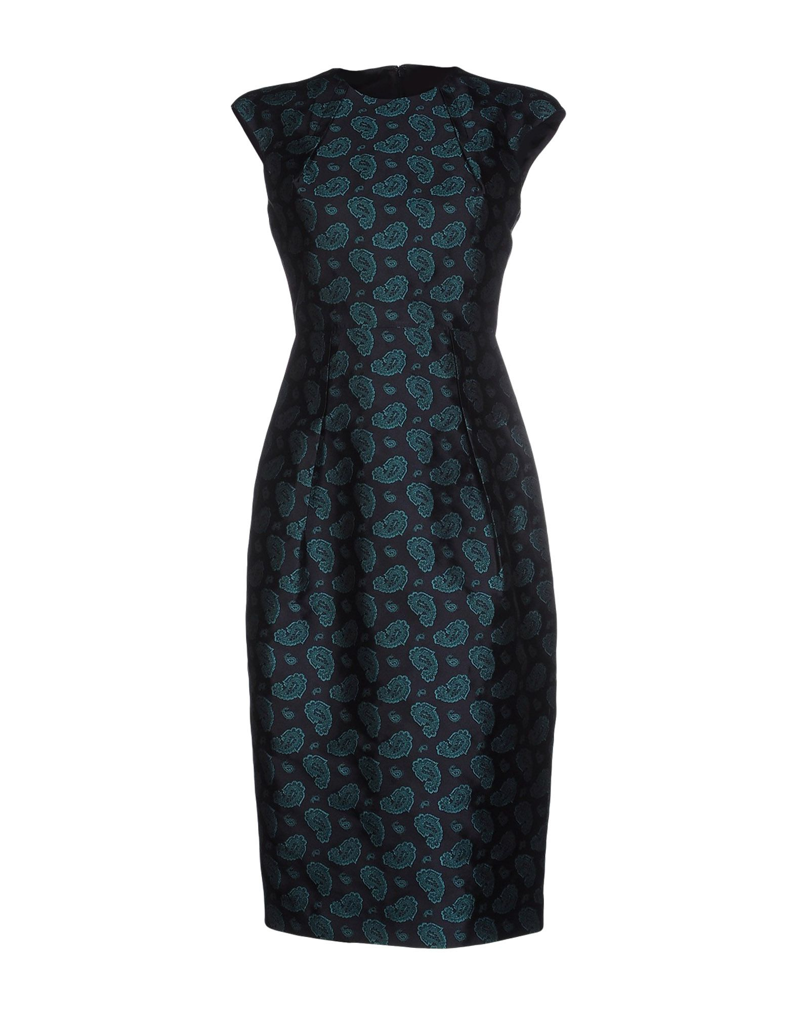 Michael kors knee length dress in blue dark blue lyst for 20 34 35 dress shirts