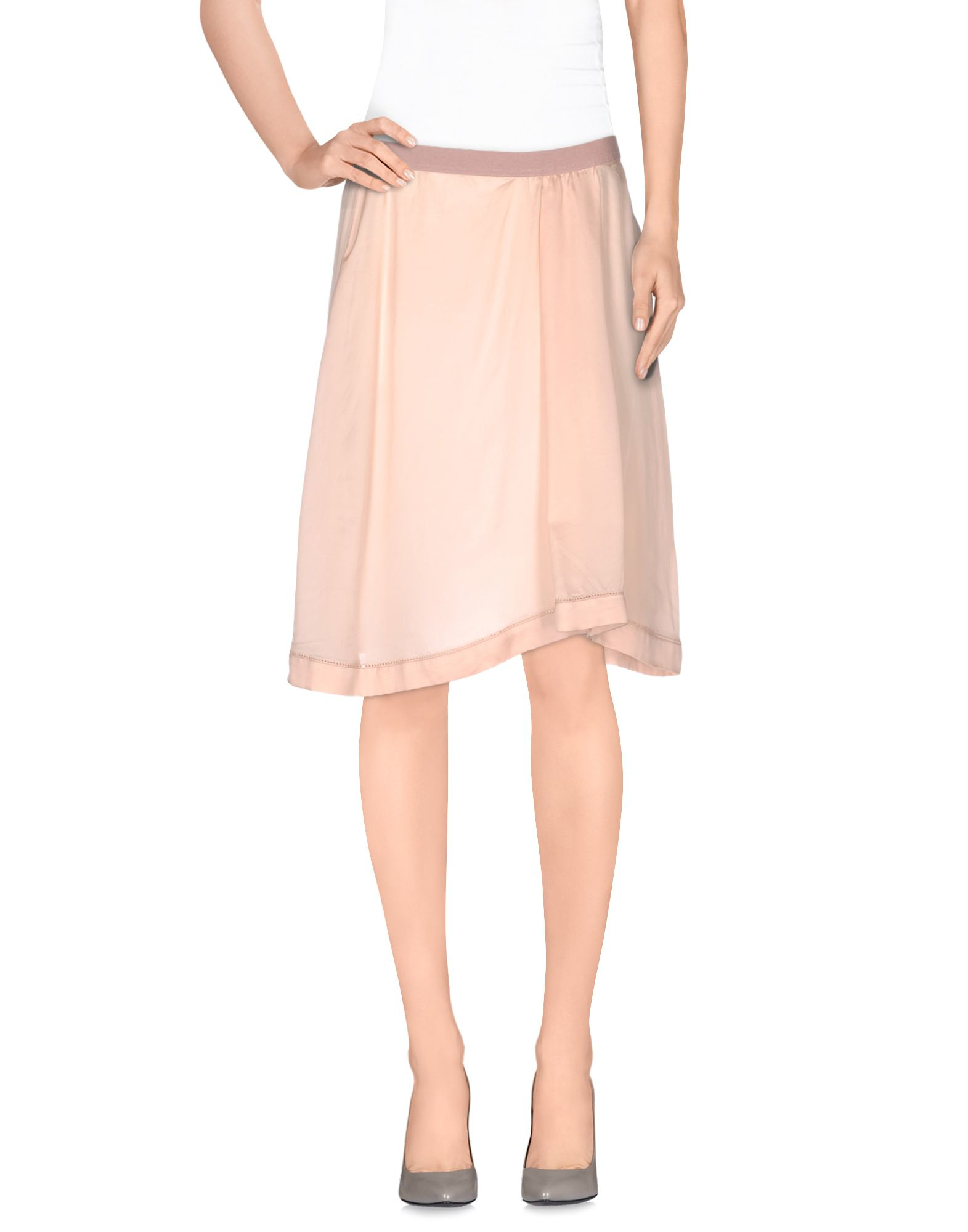 201 toile marant knee length skirt in pink lyst