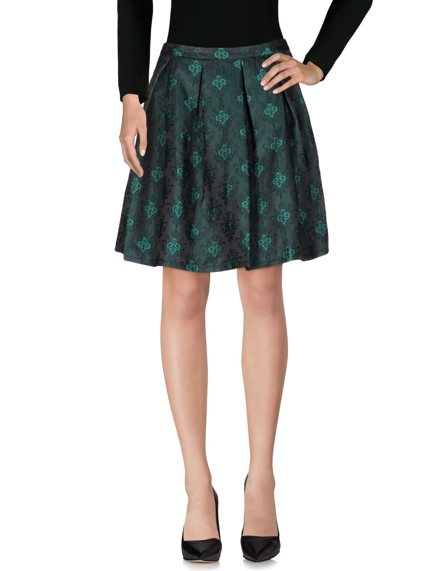 Anonyme designers Knee Length Skirt in Green