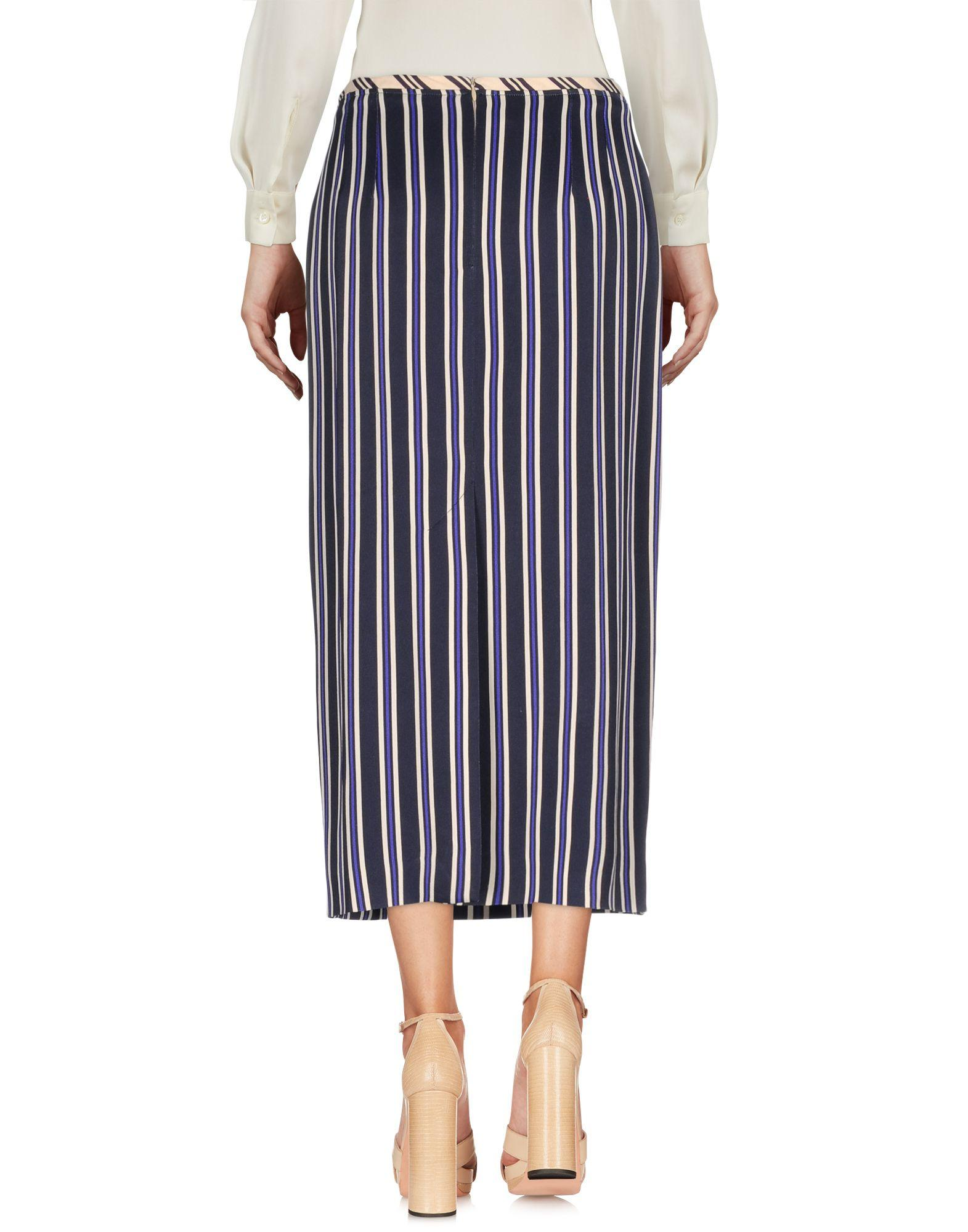 Dries van noten 3 4 length skirt in blue lyst for 20 34 35 dress shirts