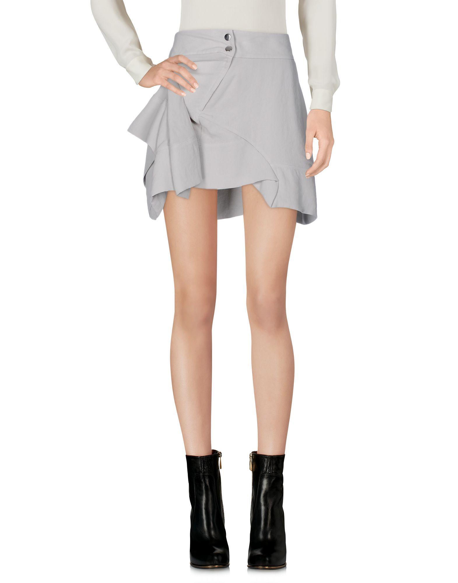 iro mini skirt in gray lyst. Black Bedroom Furniture Sets. Home Design Ideas