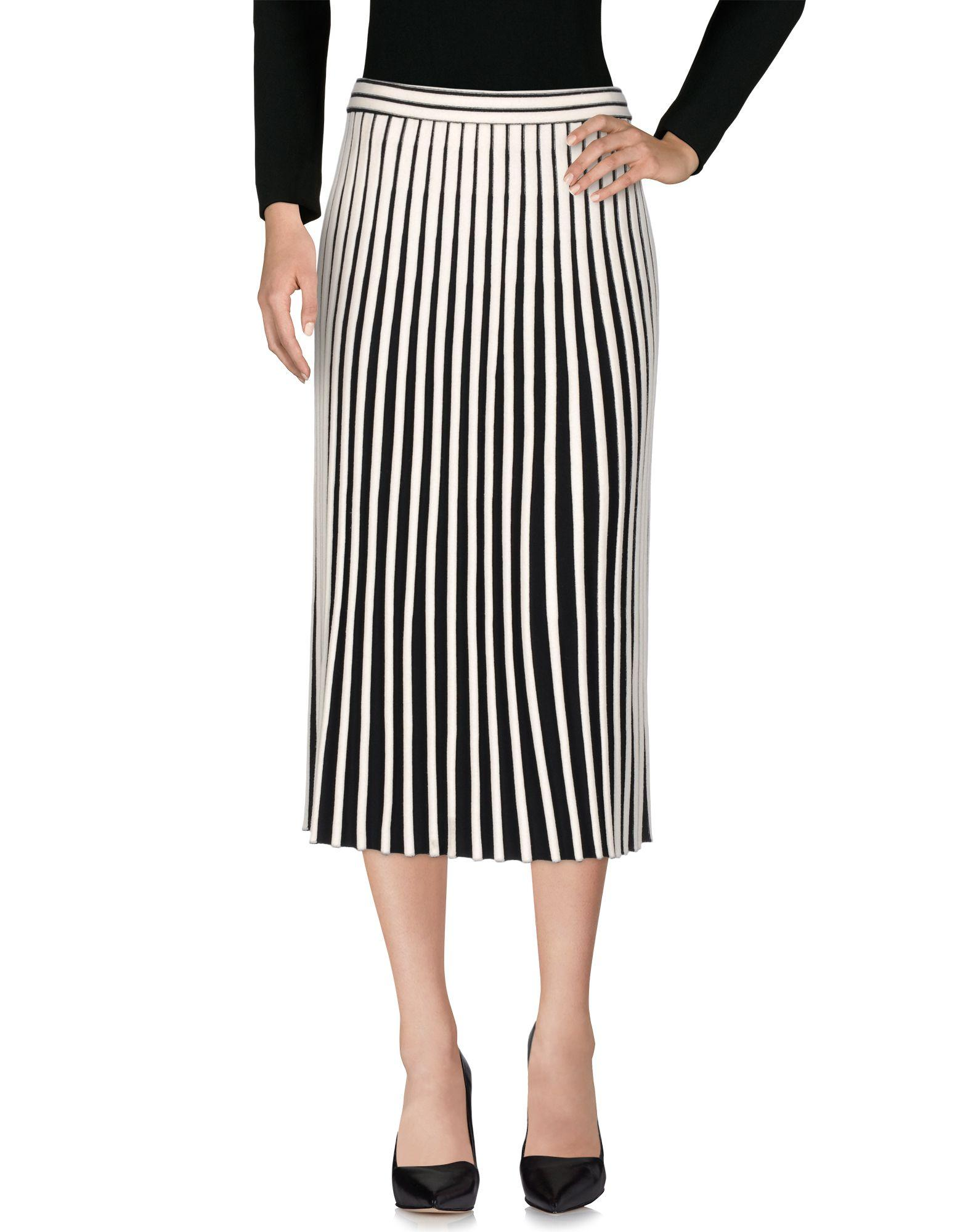 Lyst mrz 3 4 length skirt in white for 20 34 35 dress shirts