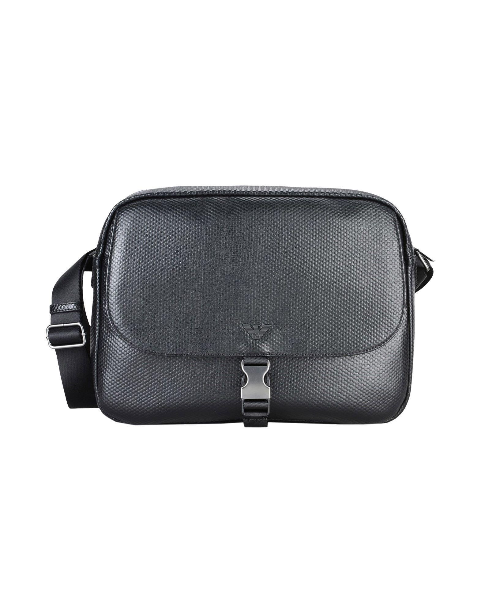 bcc94899390 Armani Jeans Handbags in Black for Men - Lyst