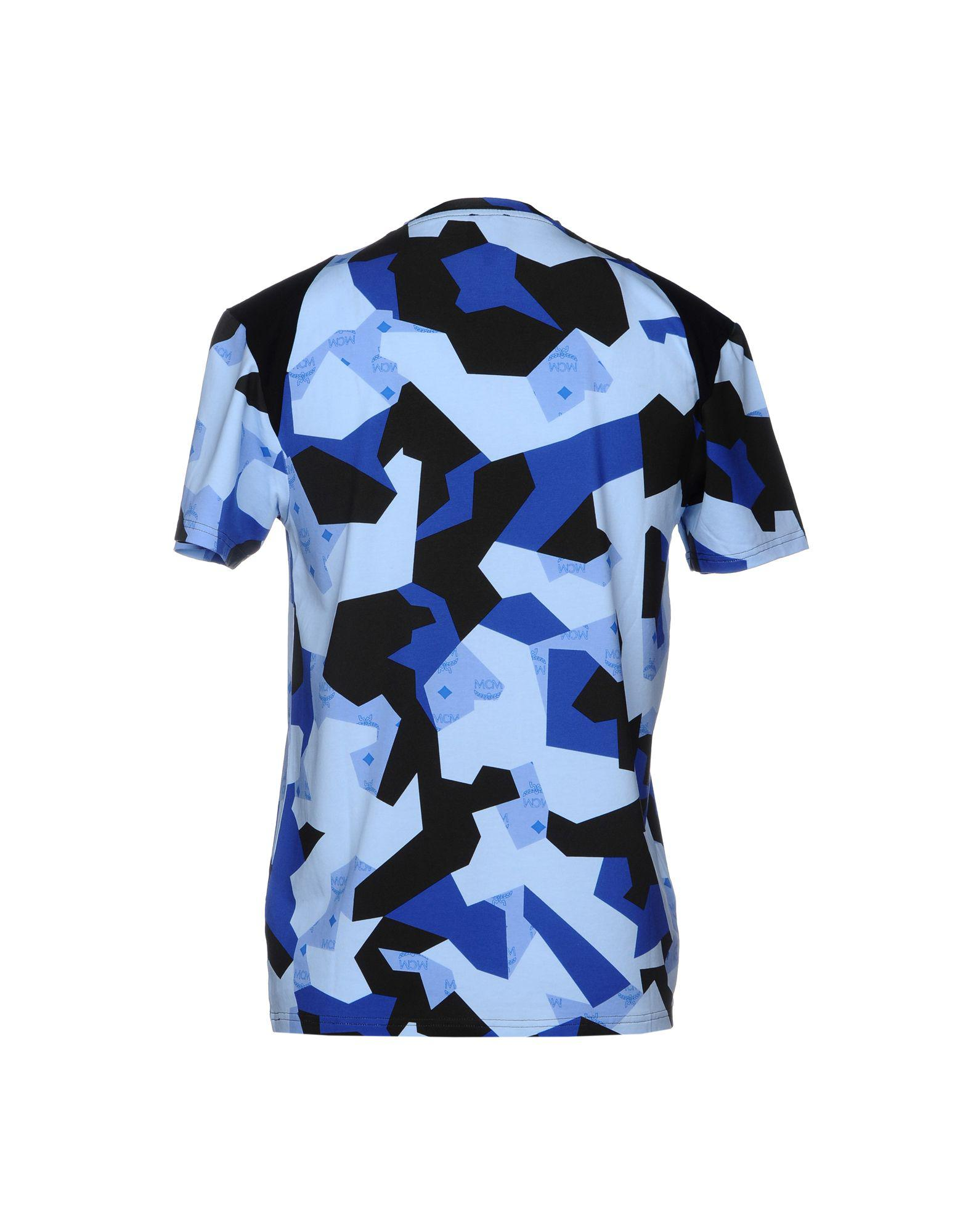 77b526f96 Mcm T-shirt in Blue for Men - Lyst