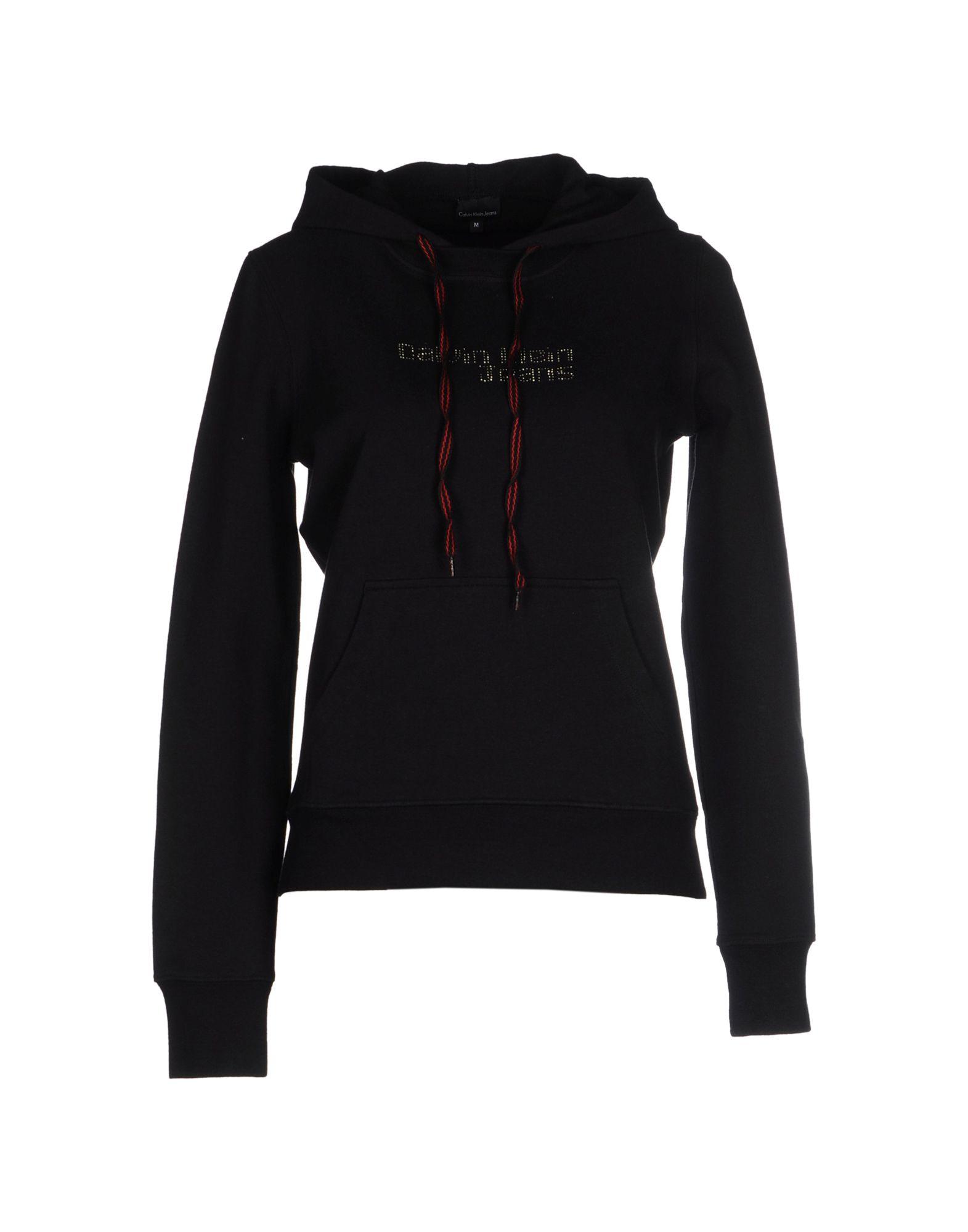 calvin klein jeans sweatshirt in black lyst. Black Bedroom Furniture Sets. Home Design Ideas